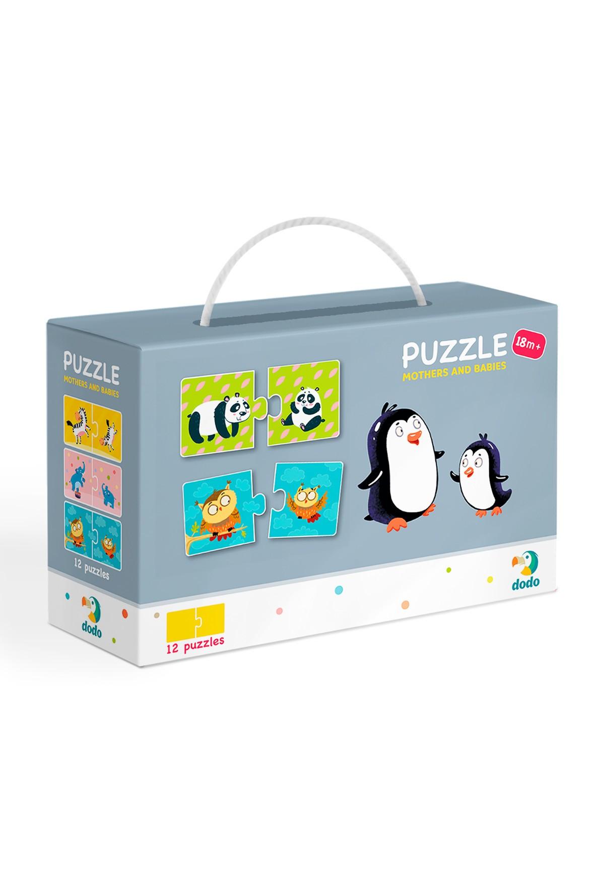 Puzzle Duo Mamy i dzieci - 12 el 18msc+