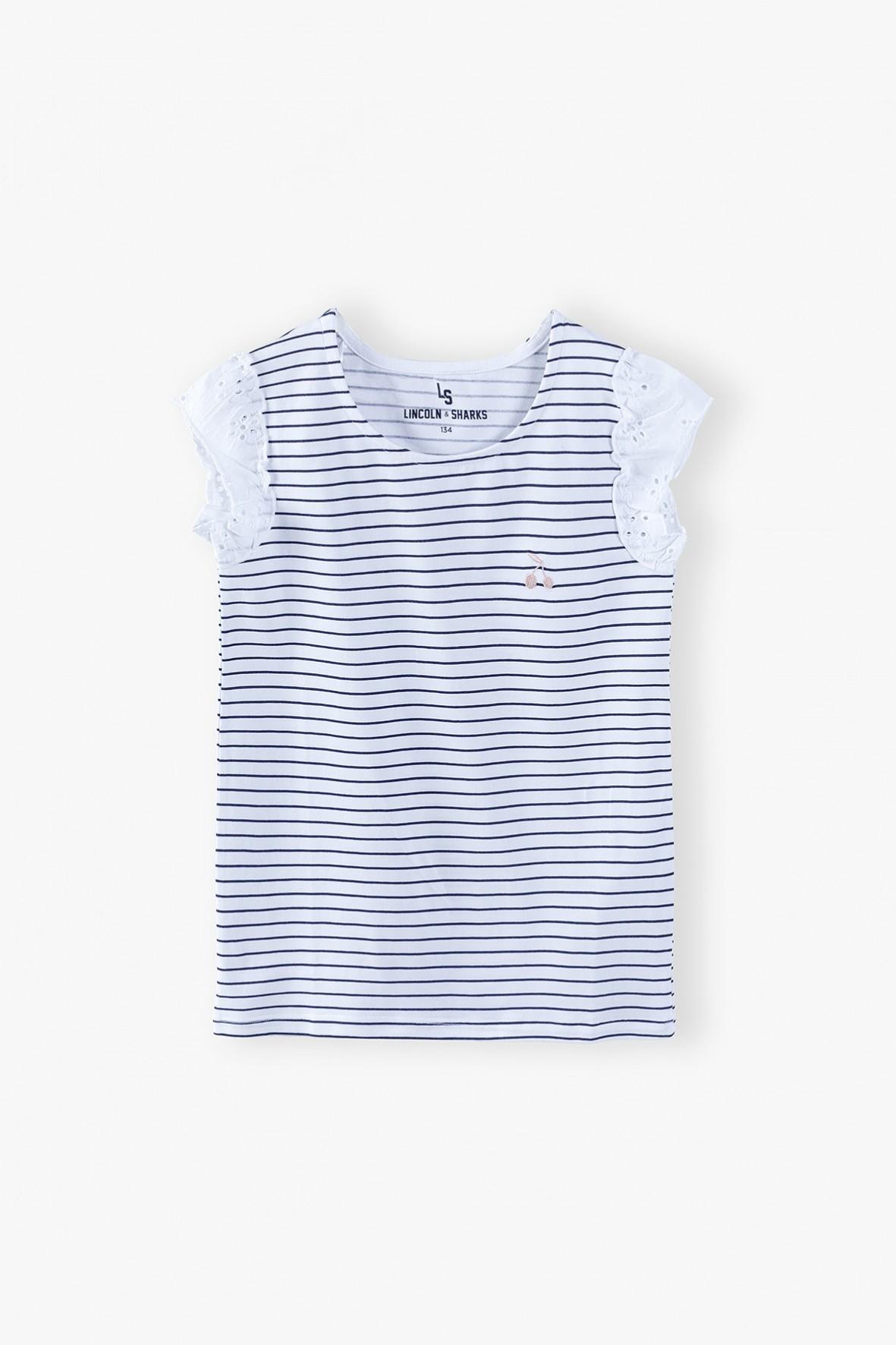 T-shirt dziewczęcy w paski