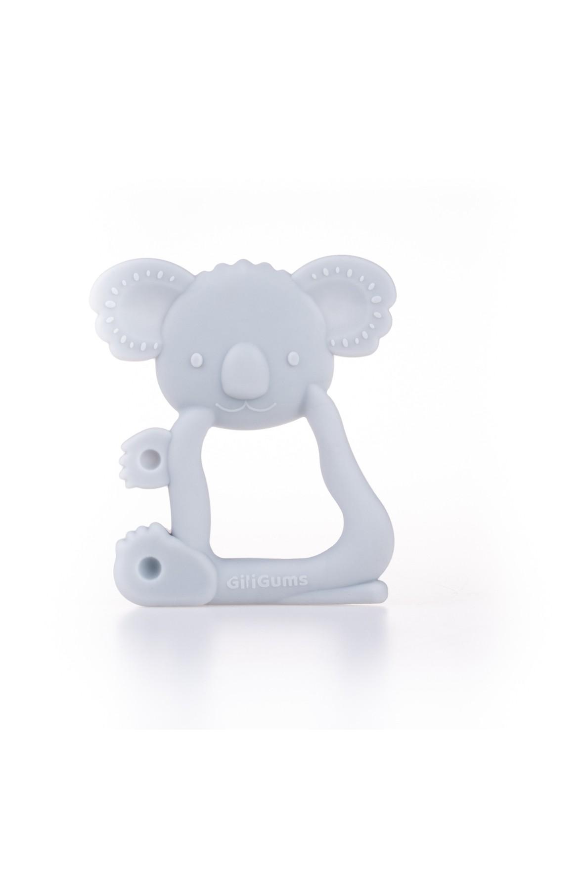 Silikonowy gryzak koala GiliGums - szary wiek 3msc+