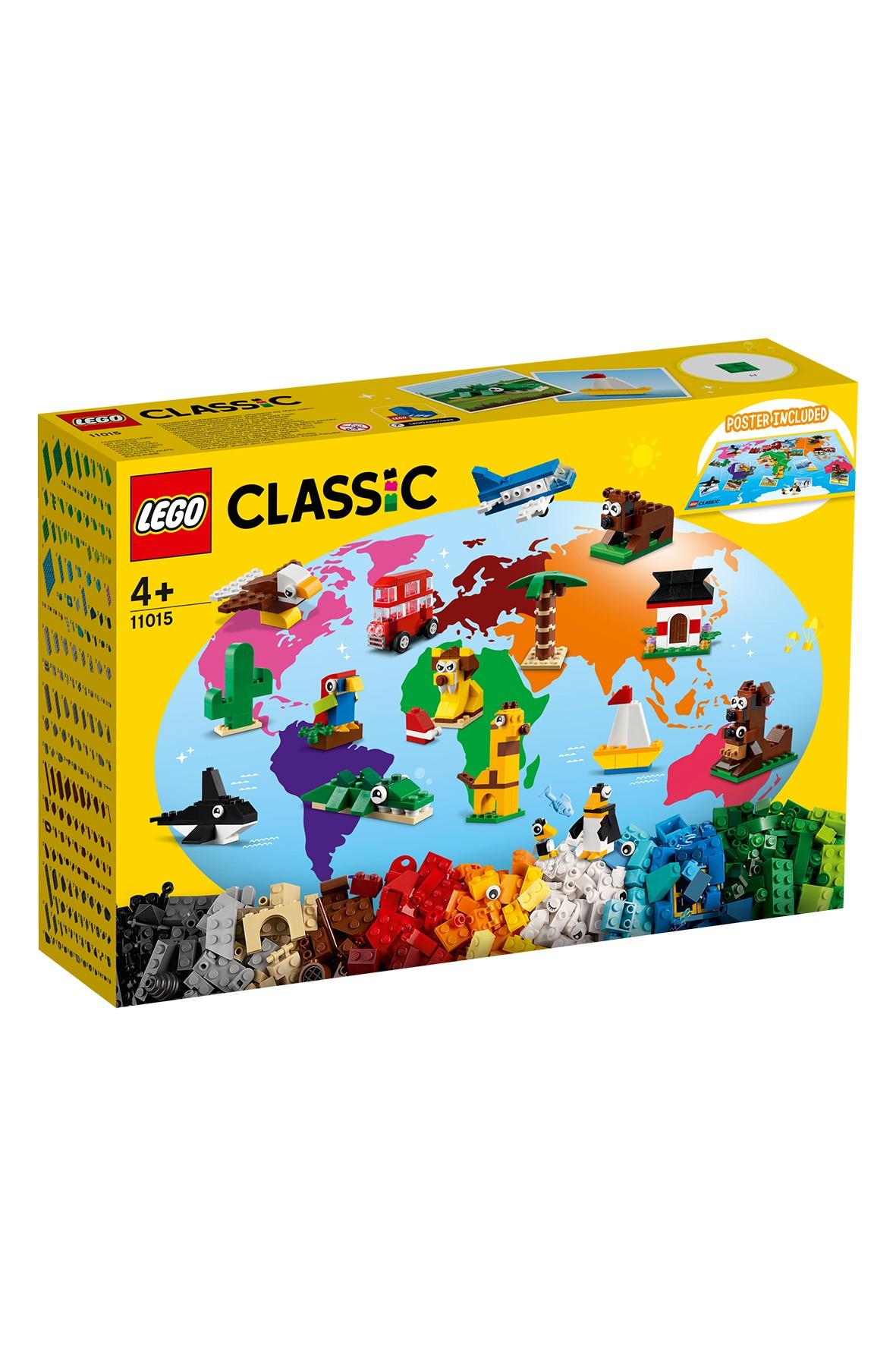 LEGO Classic - Dookoła świata - 950 elementów, wiek 4+