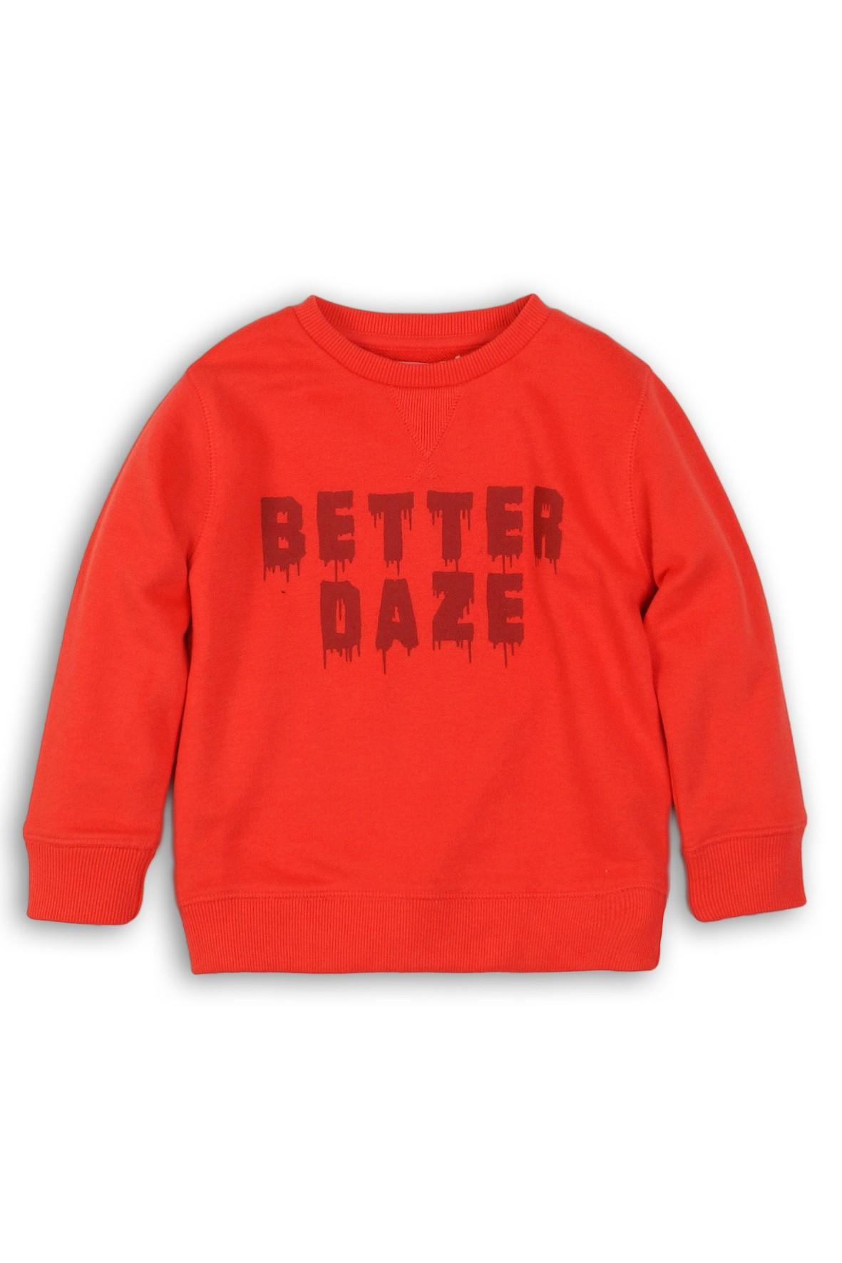 Czerwona bluza dresowa dla chlopca