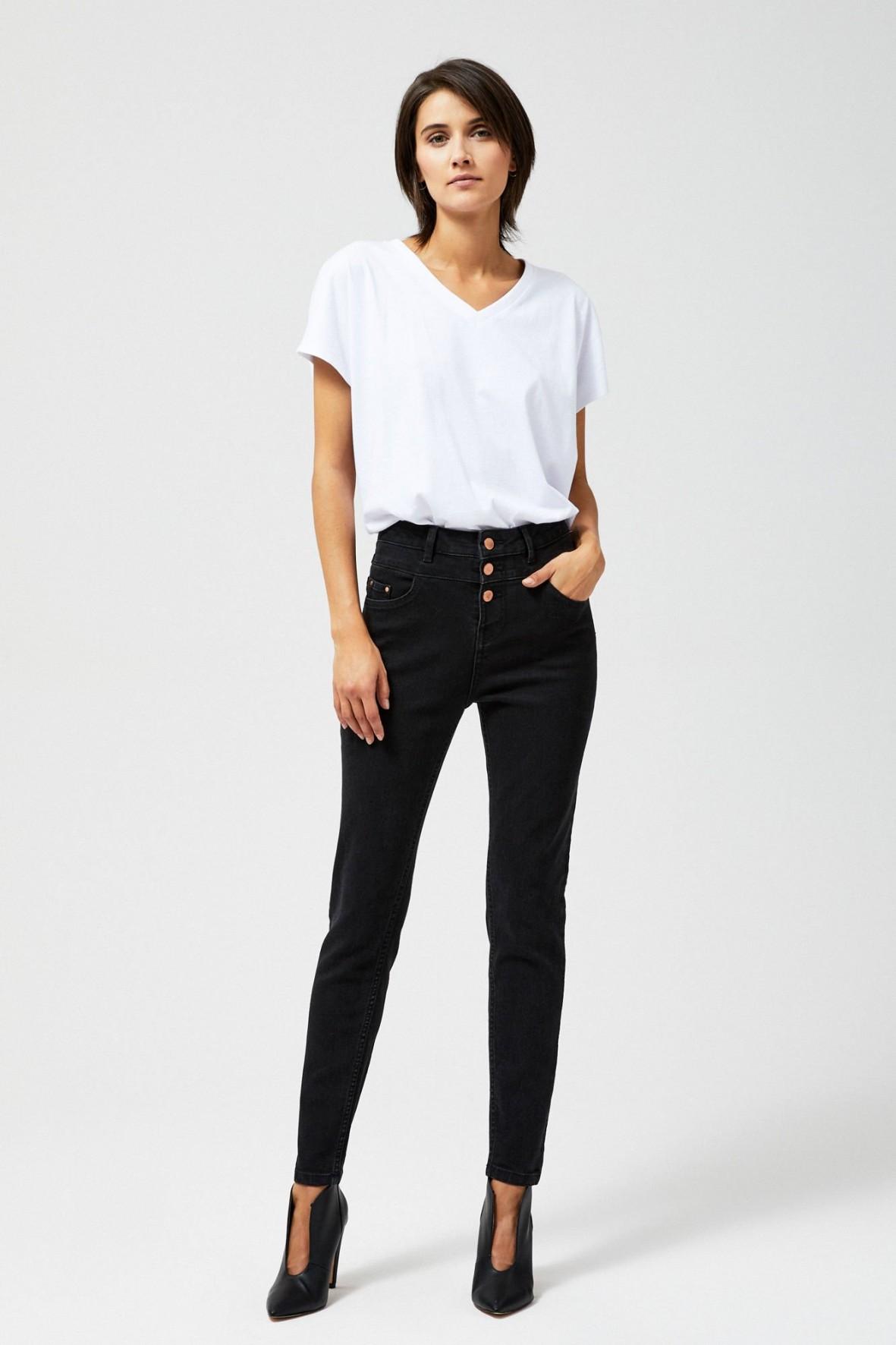 Spodnie jeansowe damskie- czarne