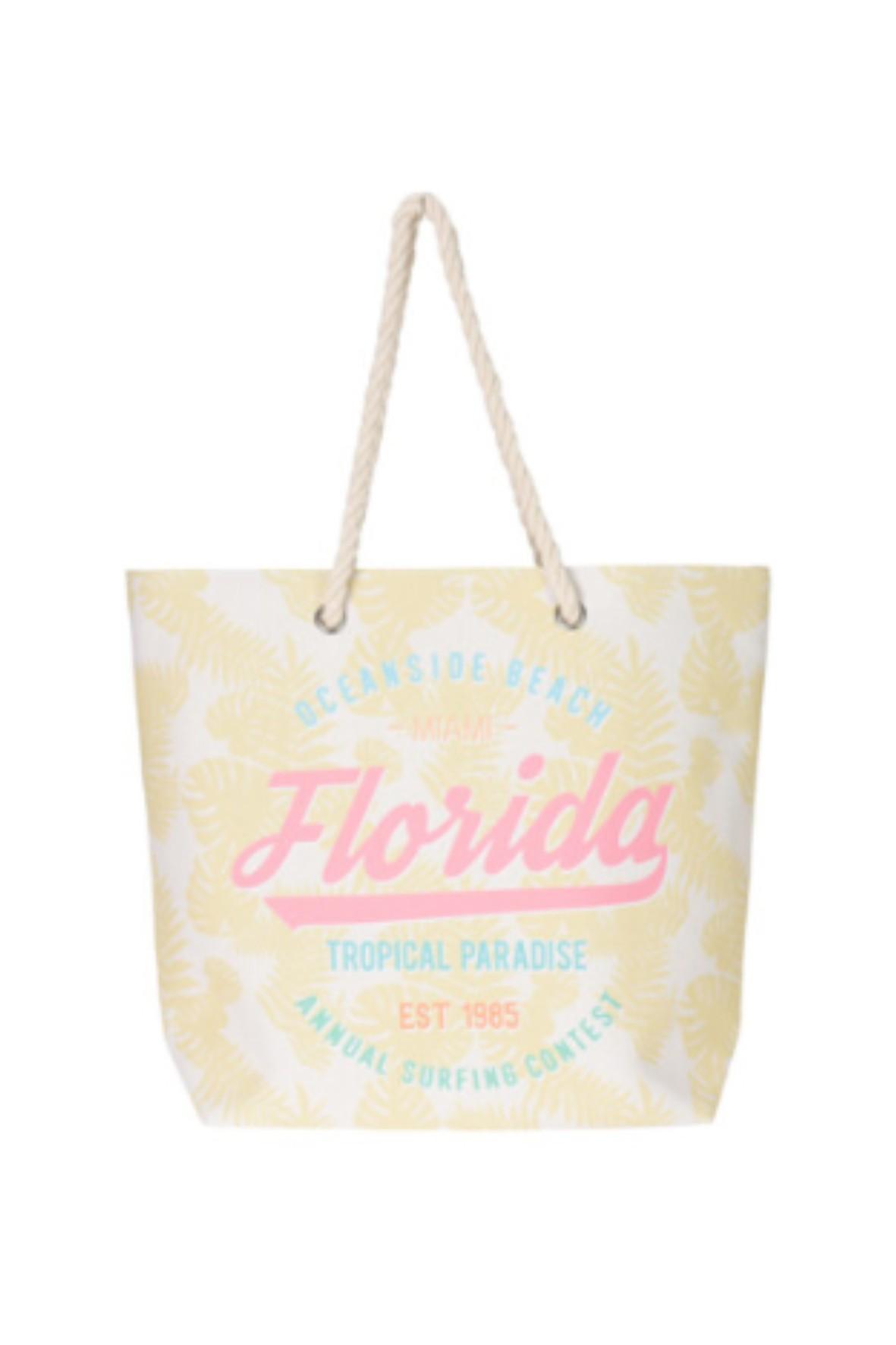 Torebka damska plażowa z wakacyjnym napisem Florida