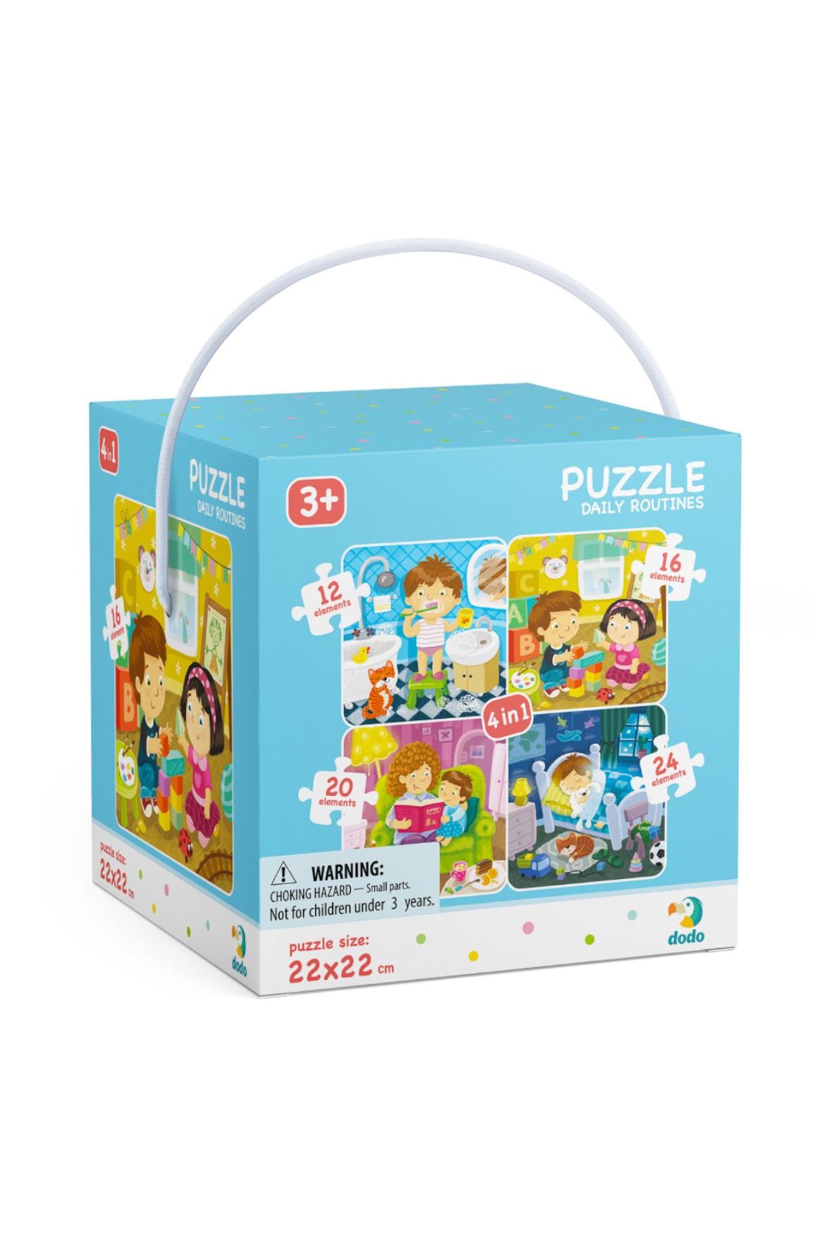 Puzzle 4w1 Mój Dzień wiek 3+