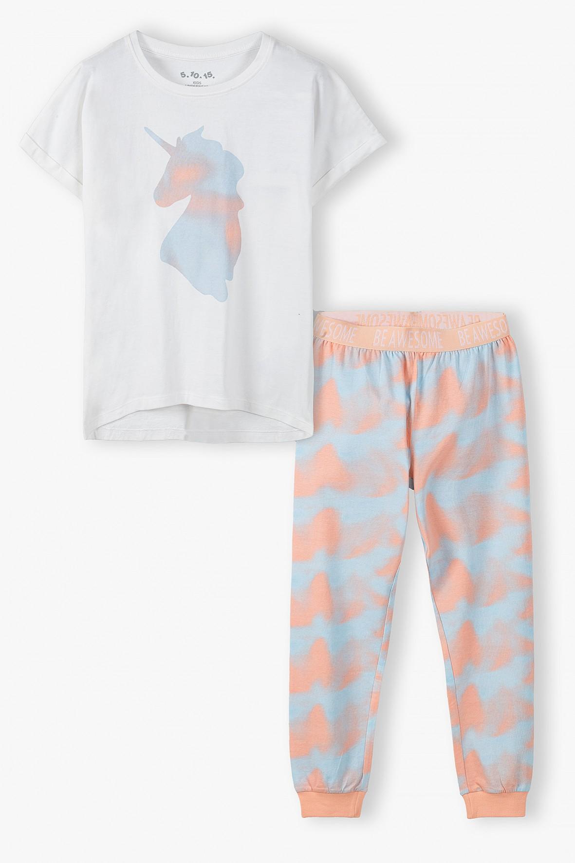 Piżama dziewczęca z jednorożcem