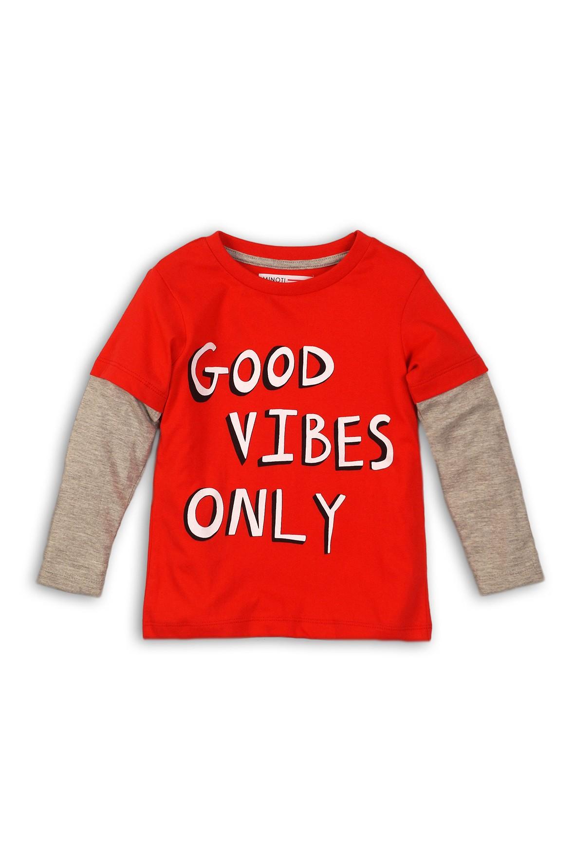 Czerwona bluzka dla niemowlaka- długi rękaw