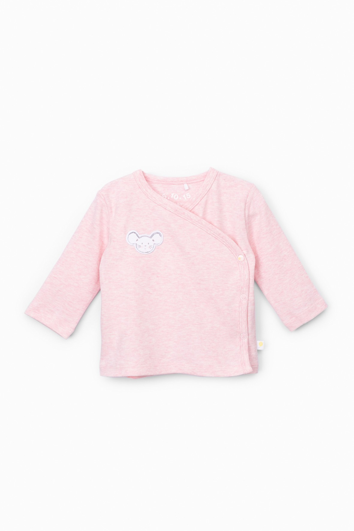Bawełniany kaftanik niemowlęcy kopertowy - różowy