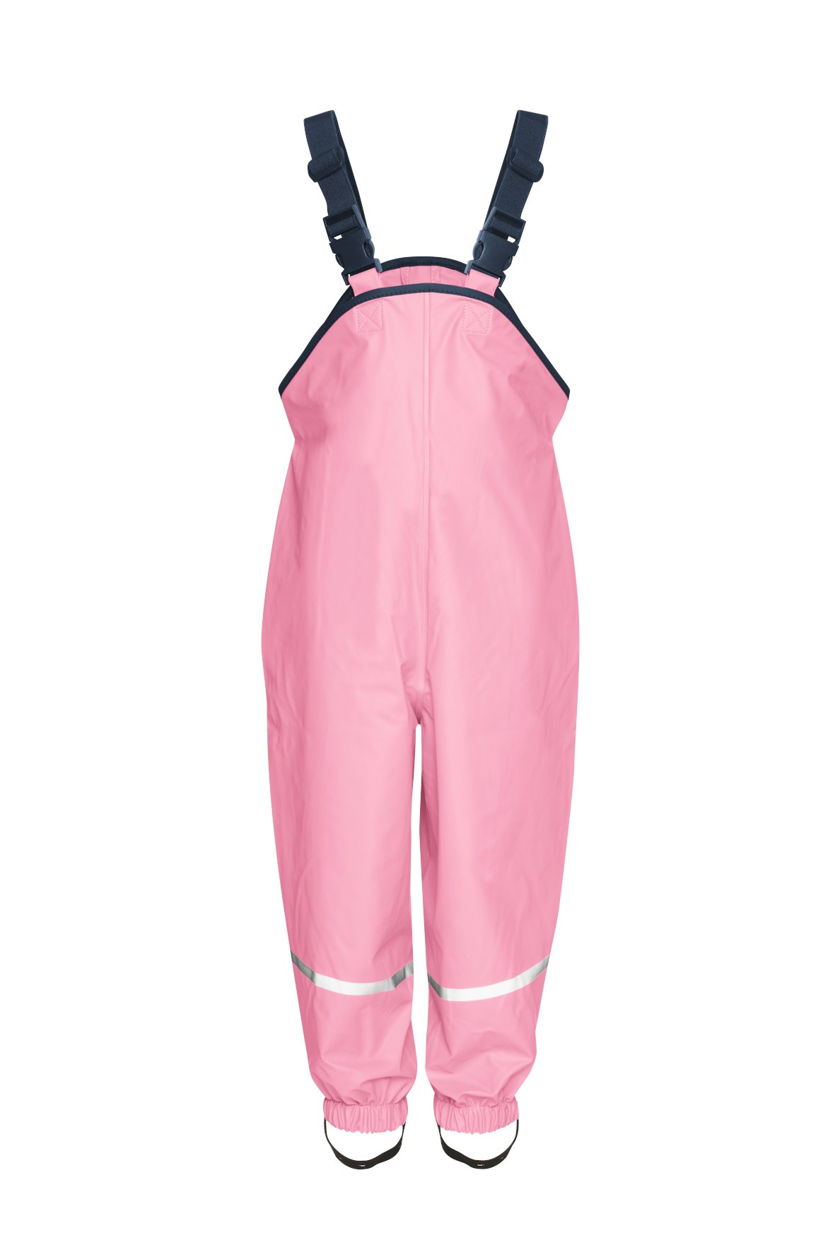 Spodnie przeciwdeszczowe różowe z odblaskami