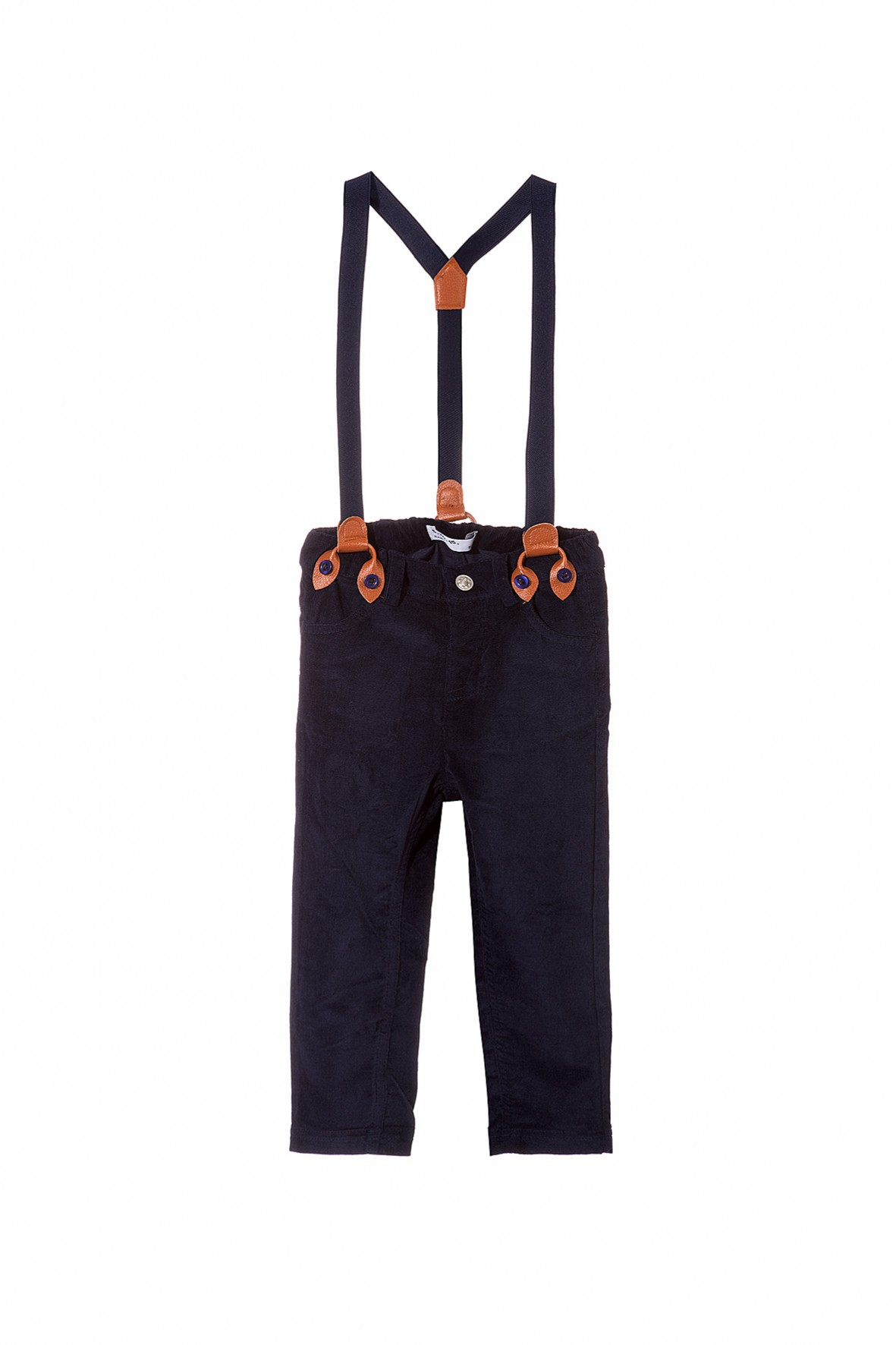 Spodnie chłopięce na szelkach 5L3508