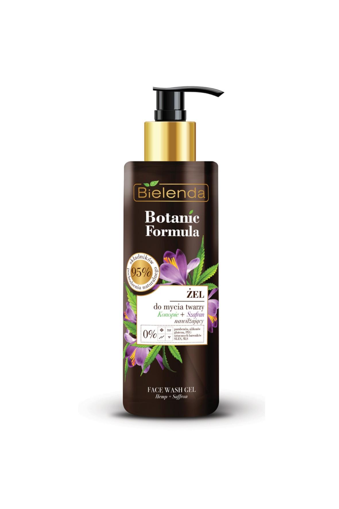 BOTANIC FORMULA Konopie + Szafran Żel do mycia twarzy  - 200 ml