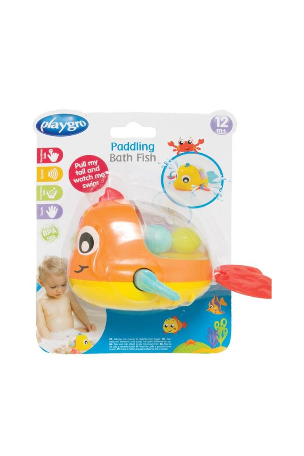 Pływająca Rybka- zabawa w kąpieli Playgro 12msc+