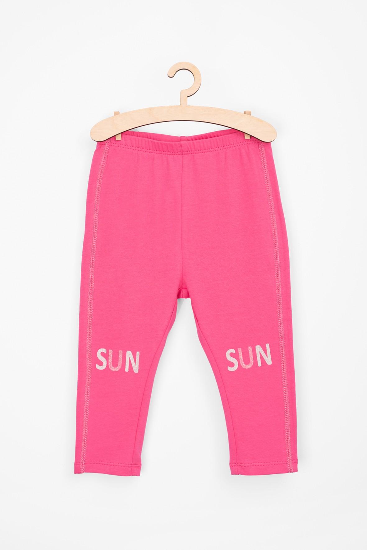 Leginsy dziewczęce-różowe Sun