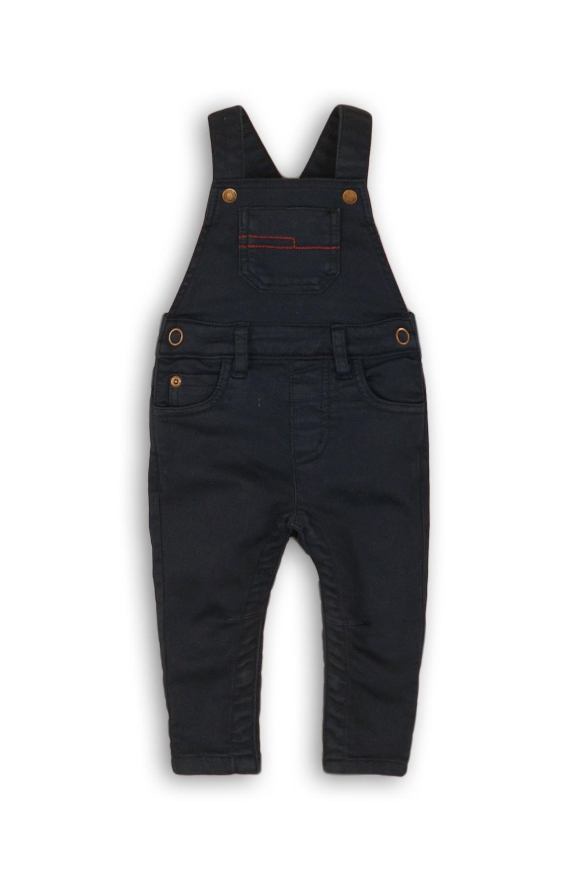 Spodnie chłopięce ogrodniczki- czarne