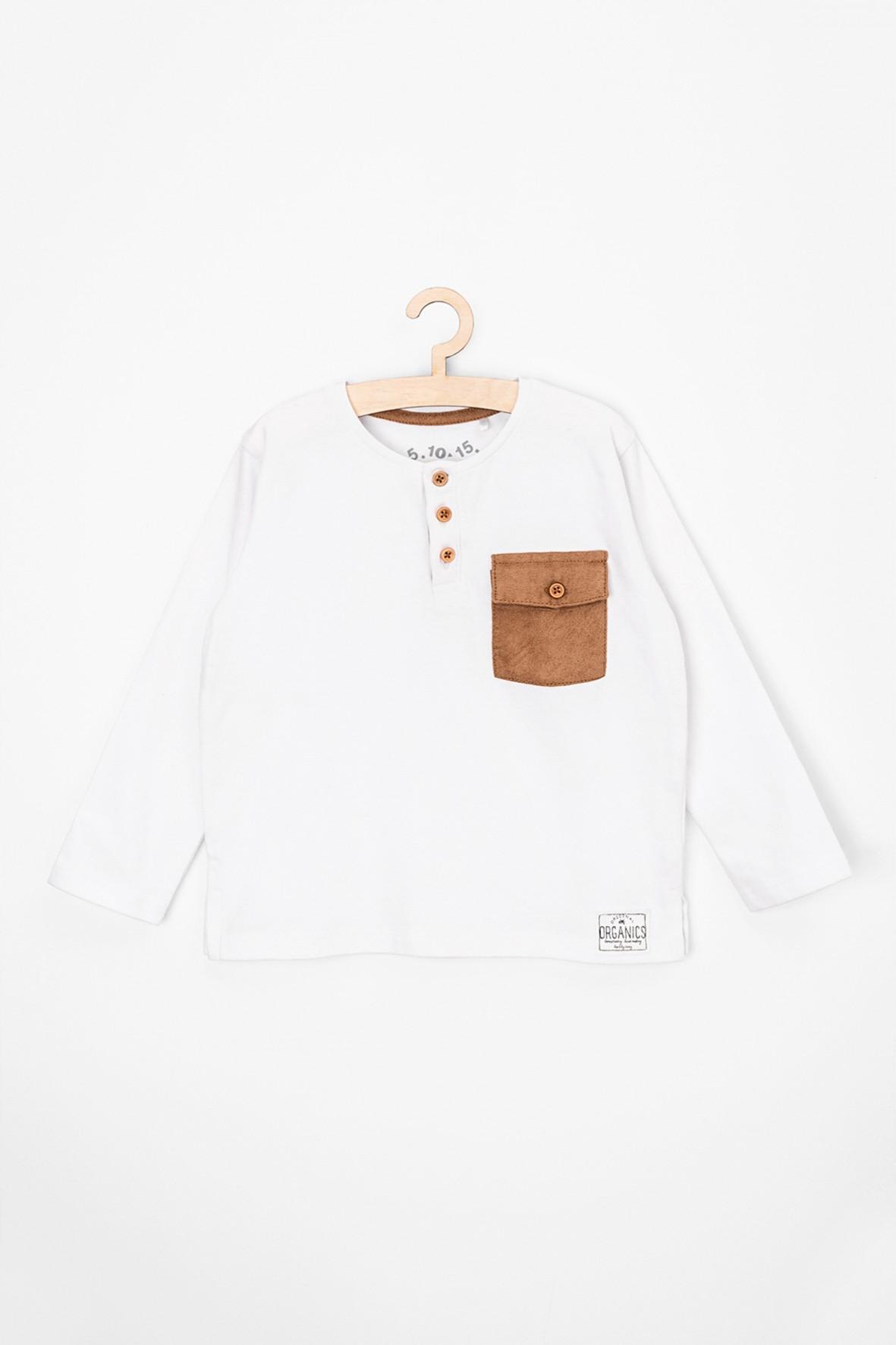 Bluzka niemowlęca z ozdobną kieszonką i guzikami