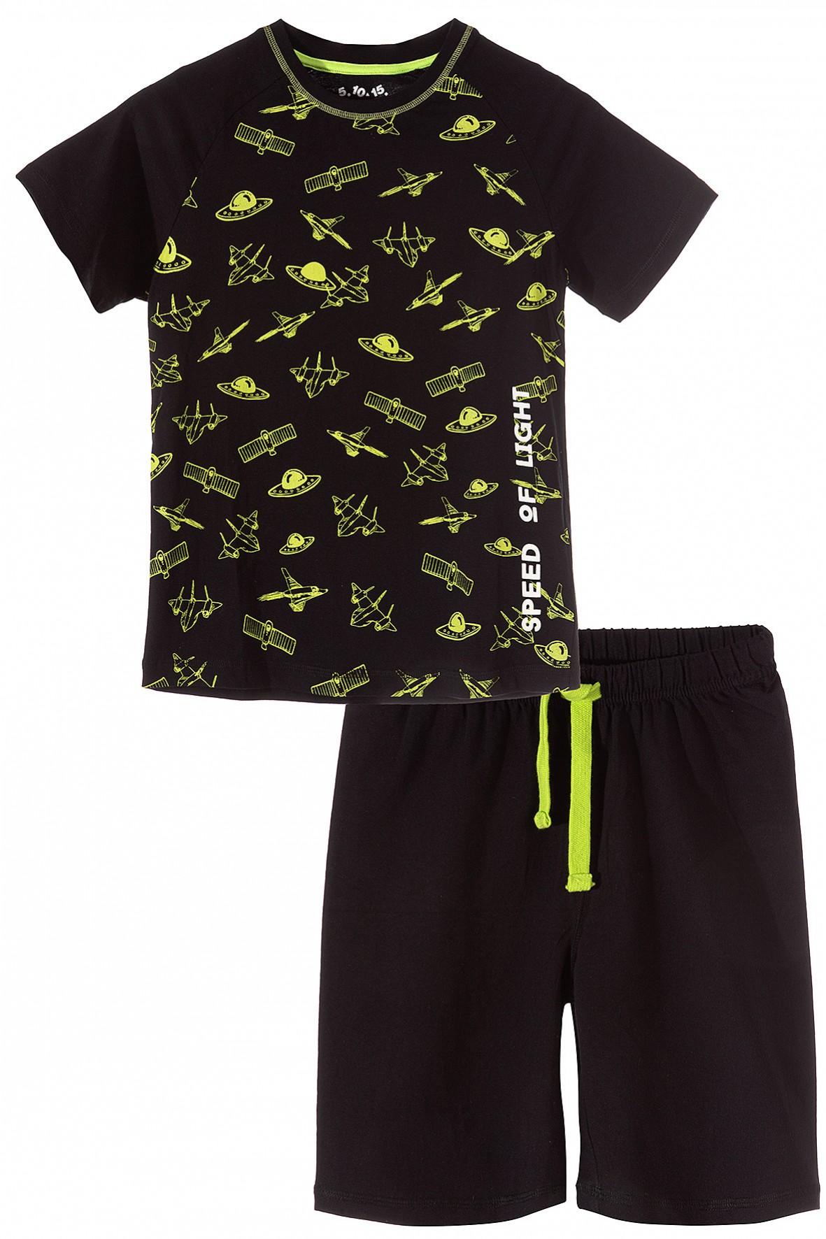 Piżama chłopięca dwuczęściowa w kosmiczne wzory