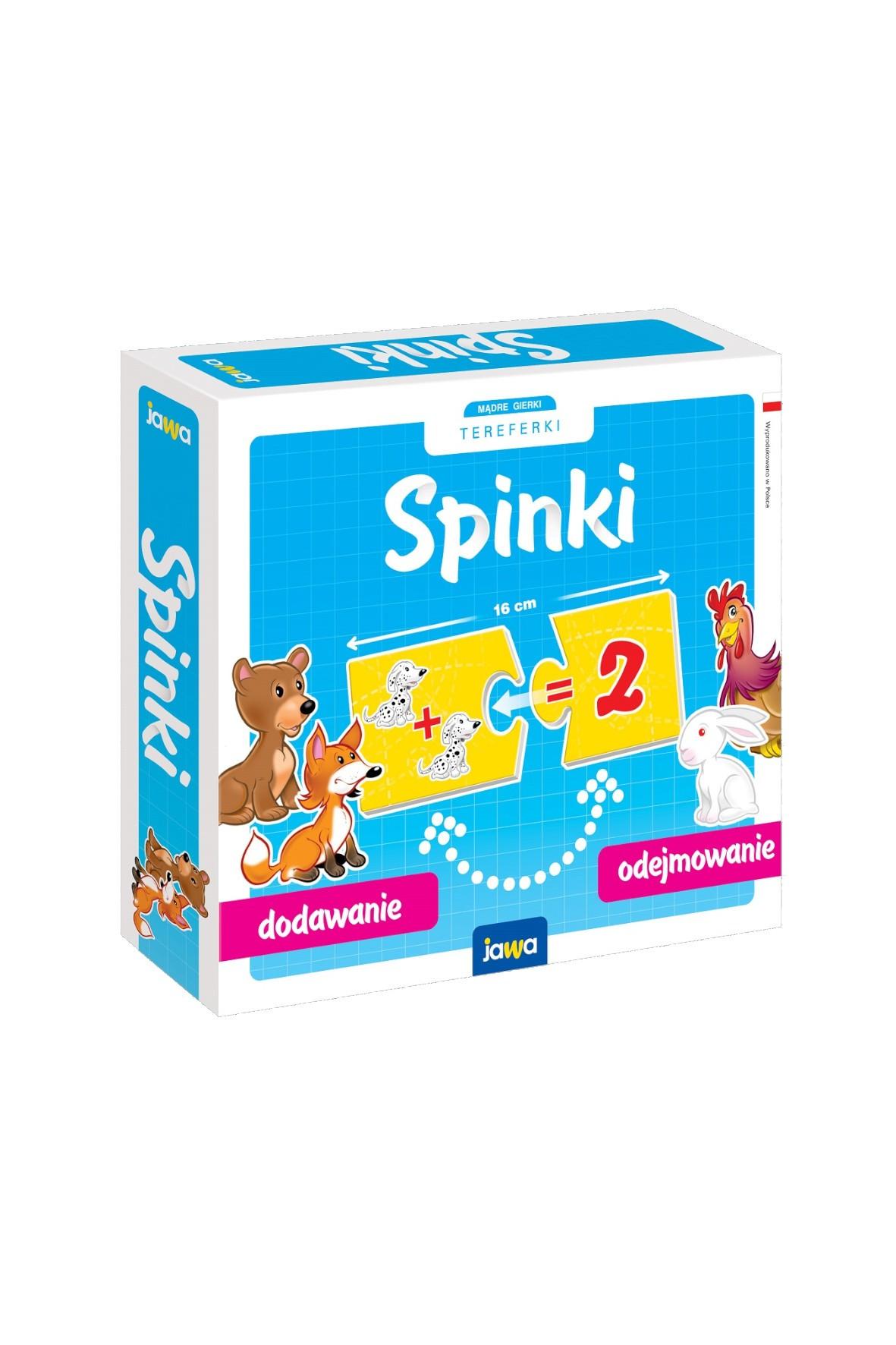 Układanki edukacyjne Spinki - Dodawanie 4+