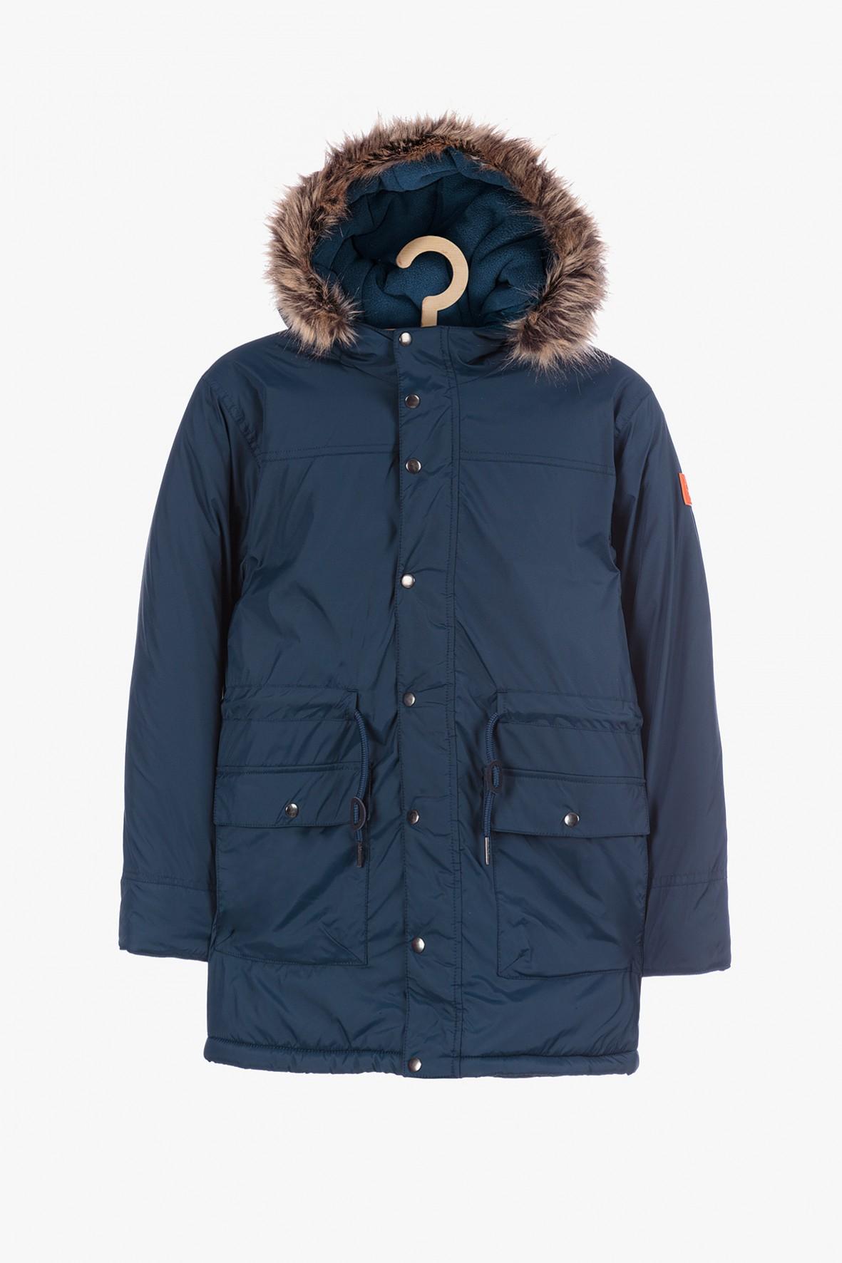 Granatowa kurtka zimowa dla chłopca