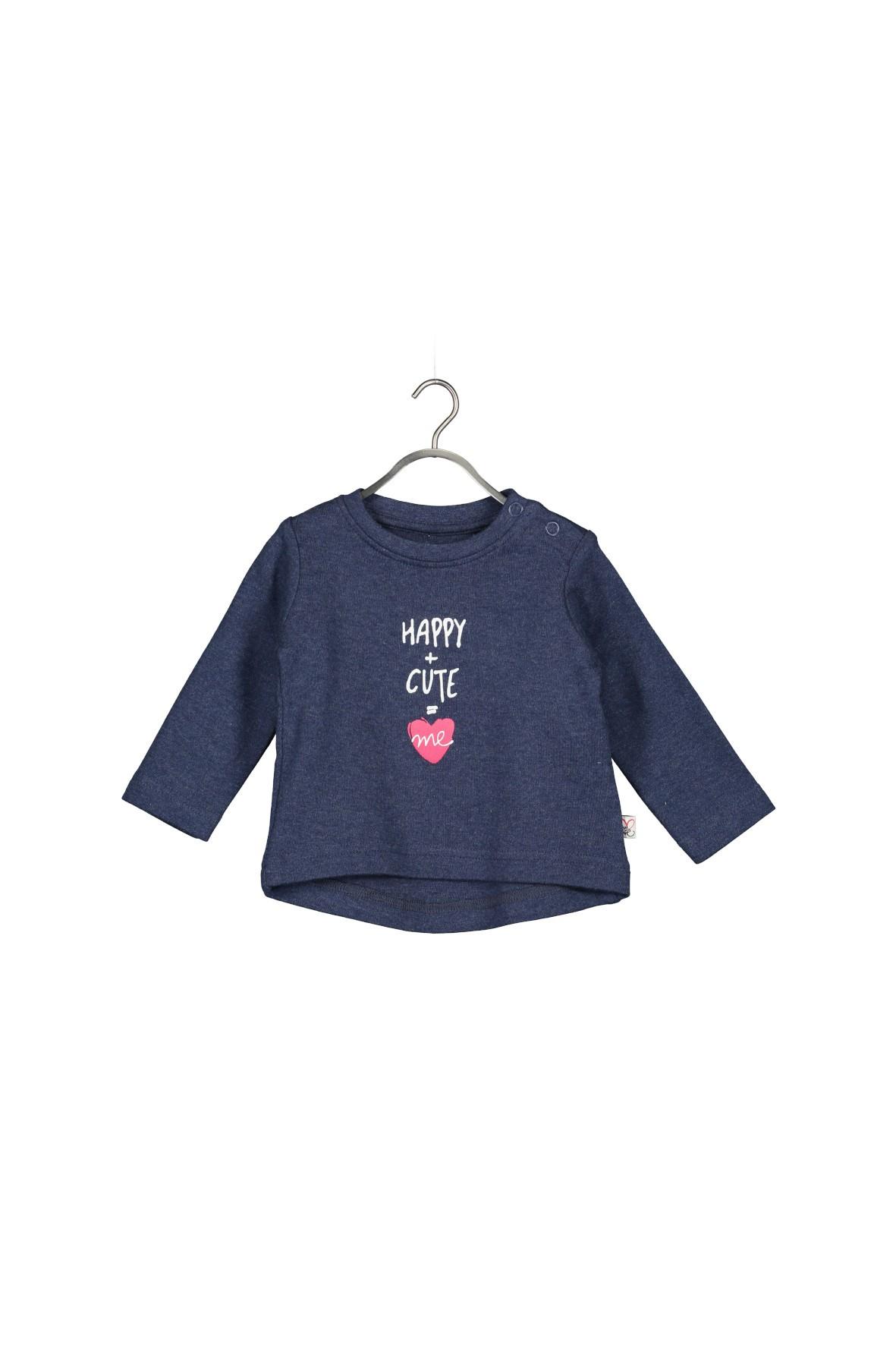 Granatowa bluzka dla niemowlaka- 100% bawełna