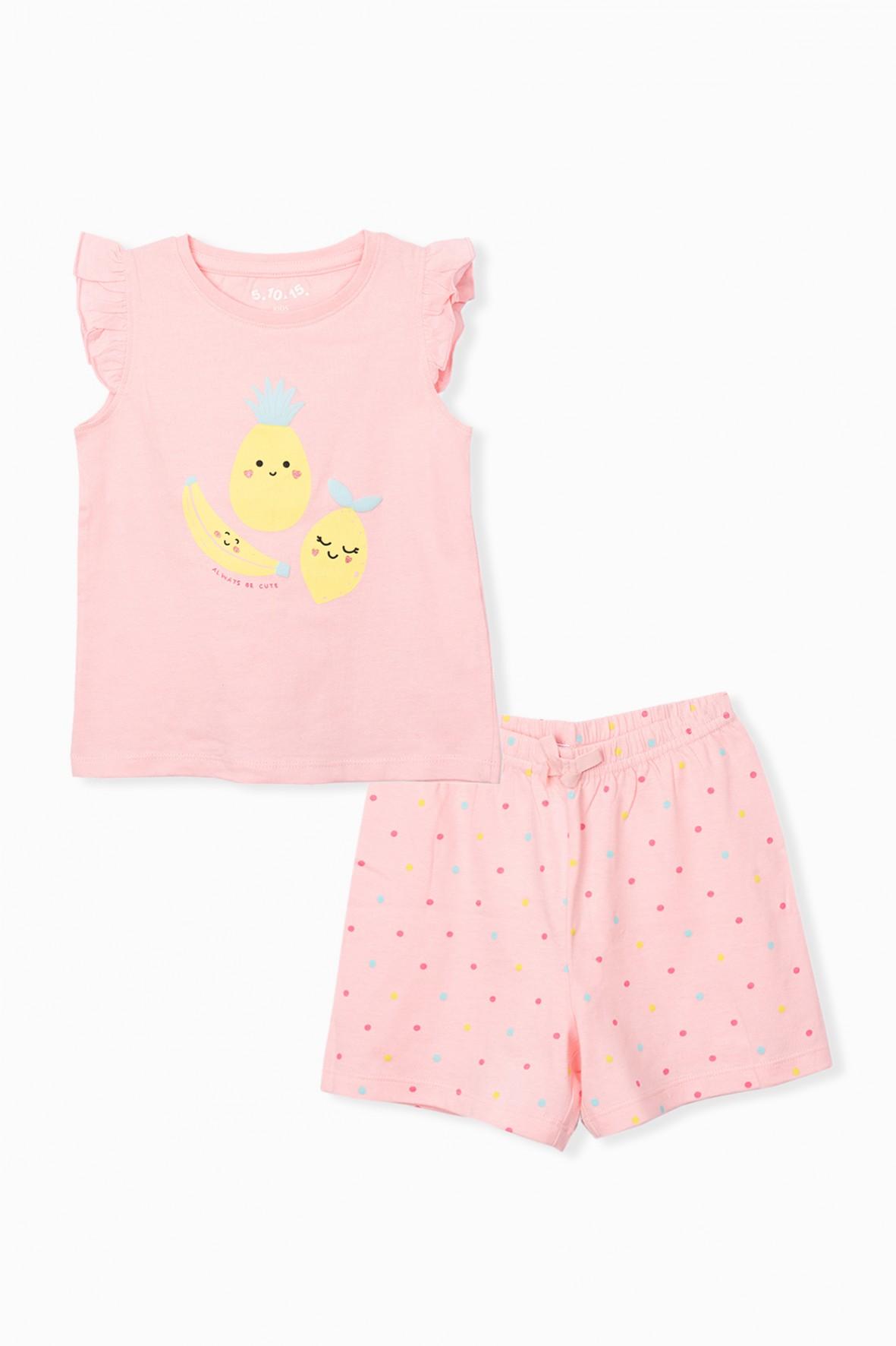 Piżama dziewczęca dwuczęściowa bawełniana
