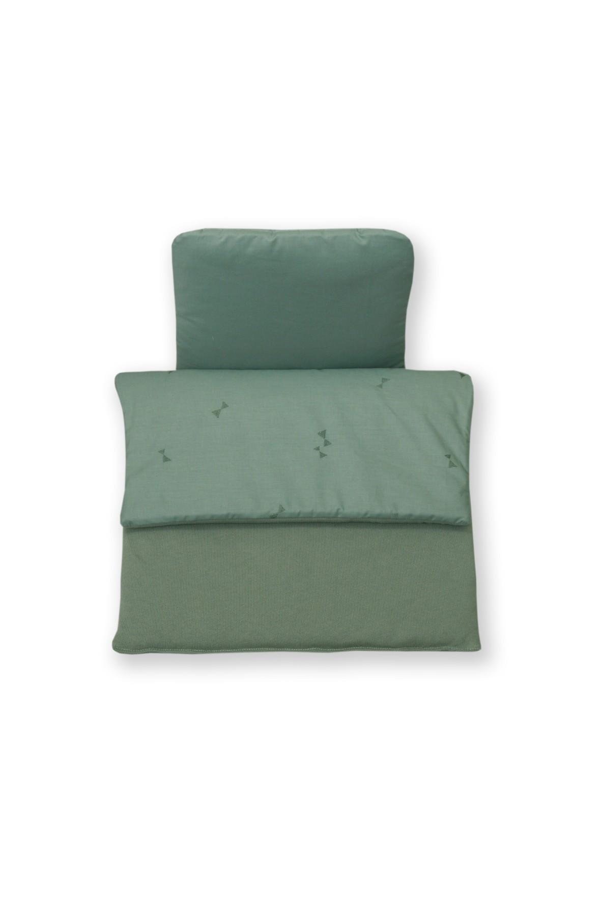 Kołderka i poduszka do wózka Amy Pure- zielona