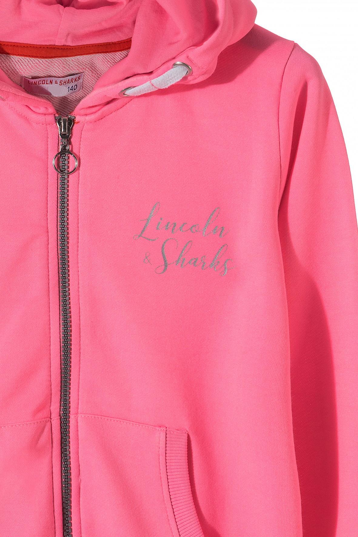 1d0cc298b1 Różowa bluza dresowa z kapturem i kieszeniami. Sportowa stylizacja ...