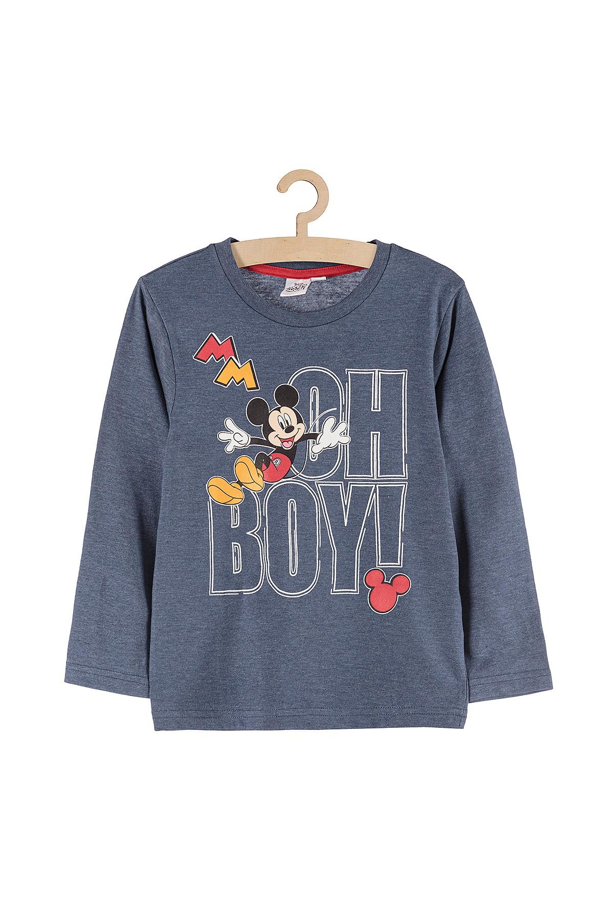 Bluzka chłopięca Myszka Mickey niebieska