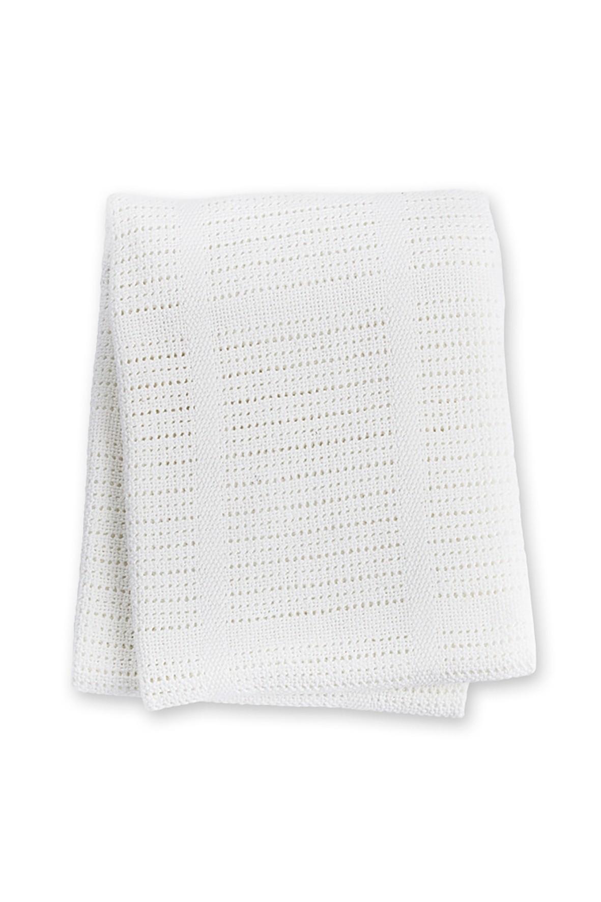 Lulujo Kocyk niemowlęcy bawełniany tkany 100x80cm