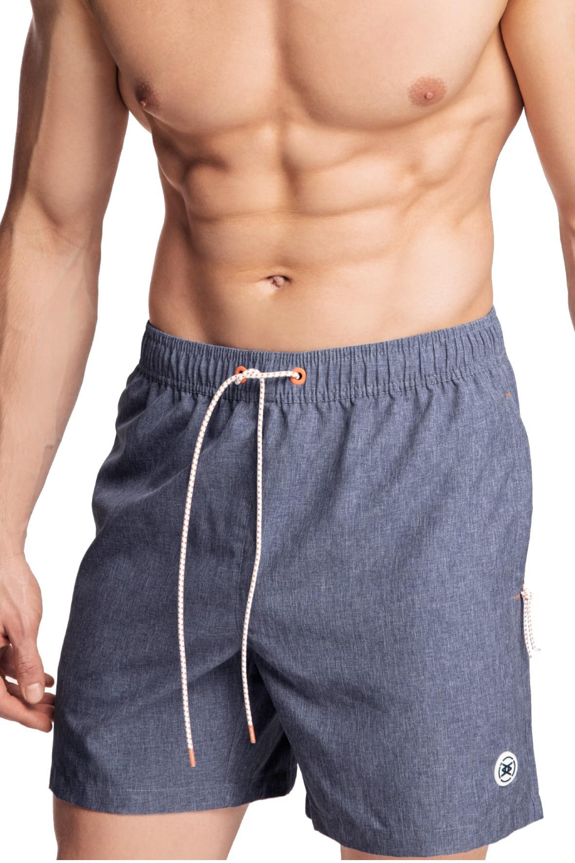 Szorty plażowe męskie z jeansowym efektem Atlantic