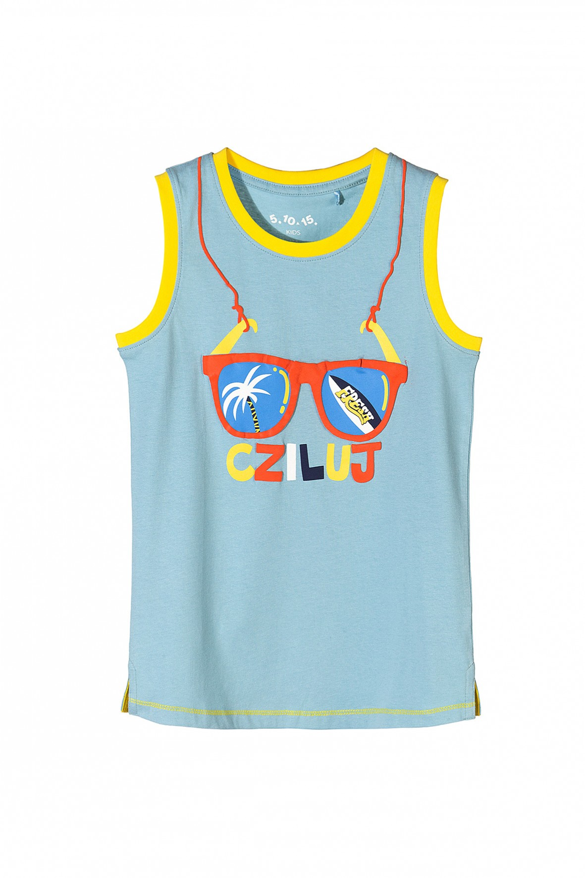 Koszulka chłopięca na ramiączka- cziluj