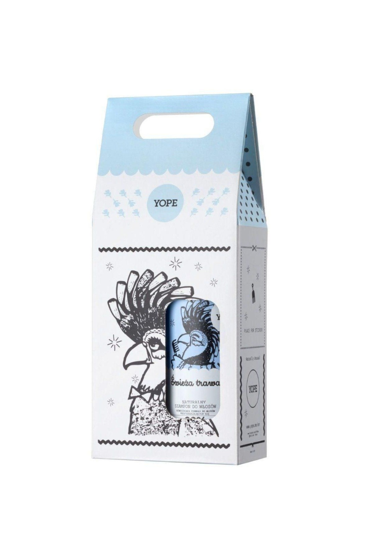 Zestaw kosmetyków szampon i odżywka Yope Świeża Trawa