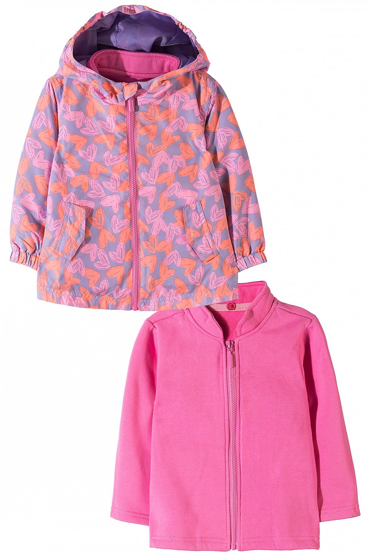 Kurtka dziewczęca 3w1 z odpinaną bluzą