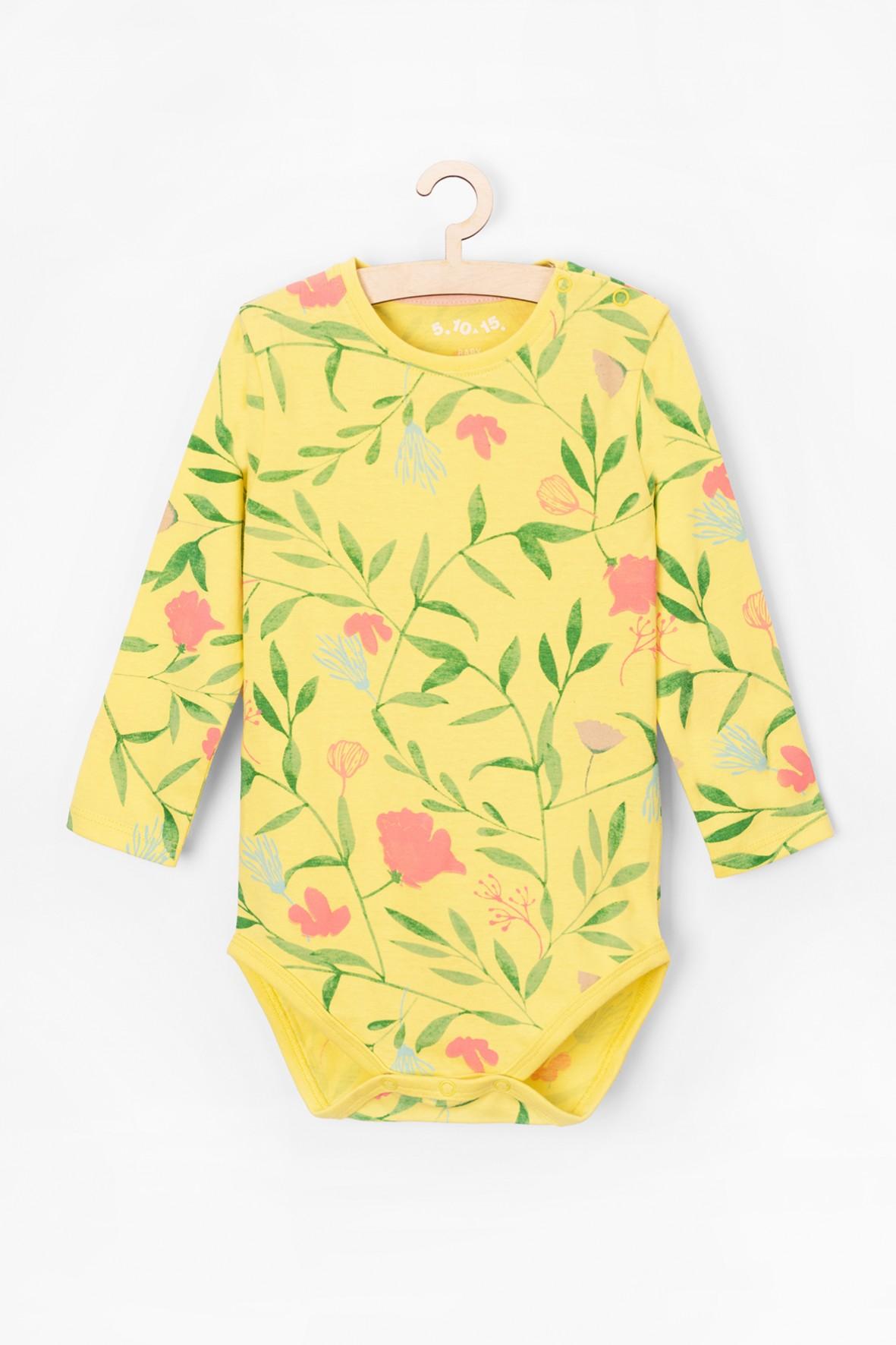 Body niemowlęce 100% bawełna -kolorowe wiosenne motywy kwiatowe