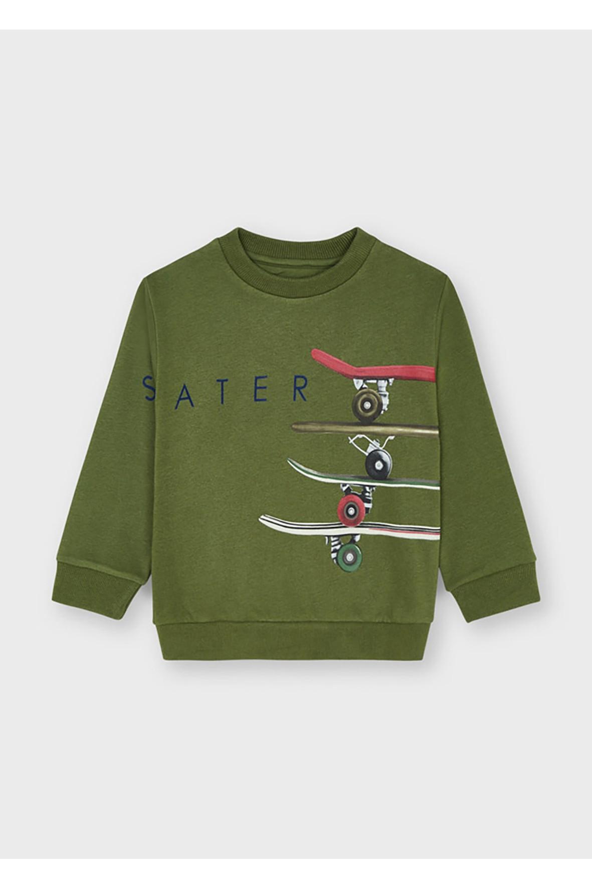 Bluza chłopięca z deskorolkami - zielona