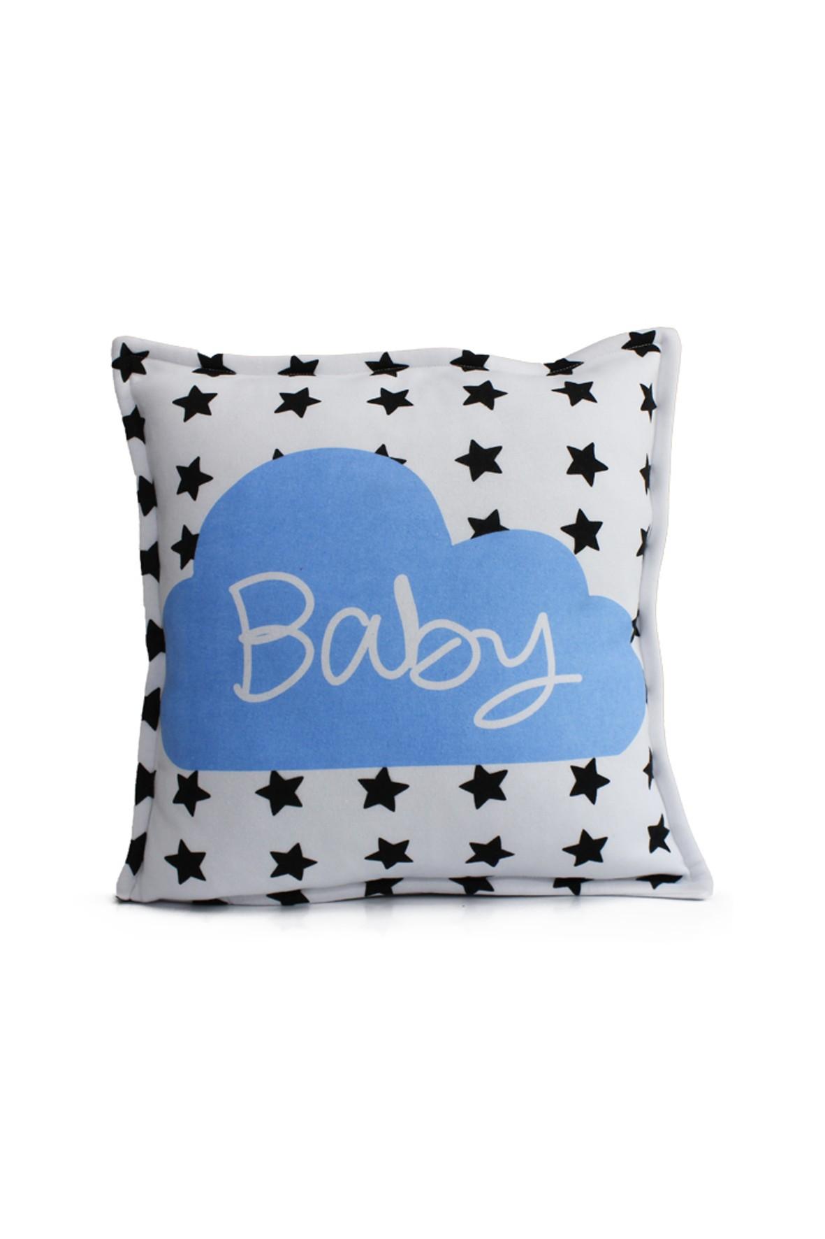 Poduszka biała w gwiazdki - Hello Baby 45x45cm