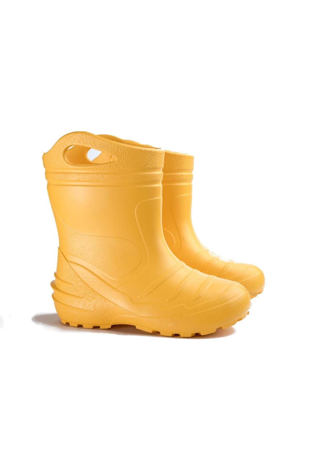 Kalosze dziecięce EVA Konewka ocieplane - żółte