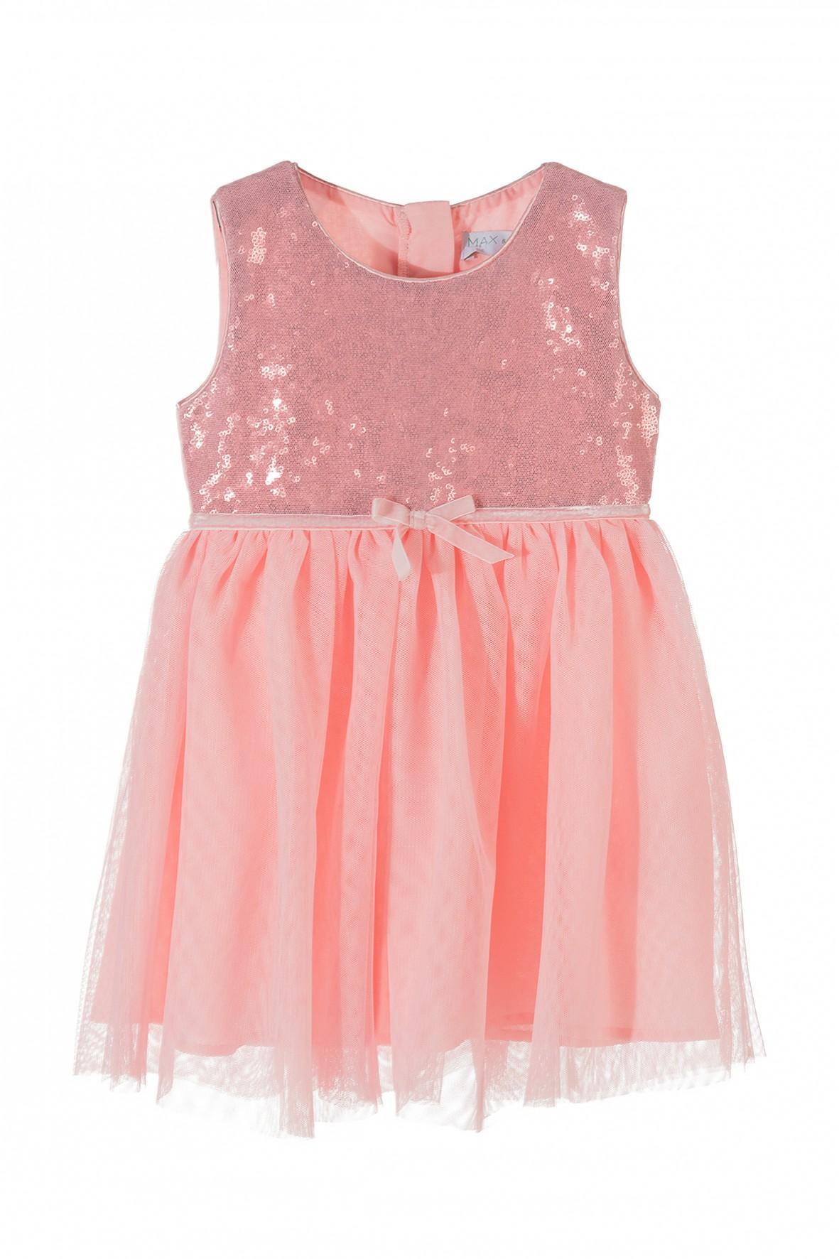 e1f4f3955a Różowa tiulowa sukienka dla dziewczynki- idealna na spacjalne okazje.
