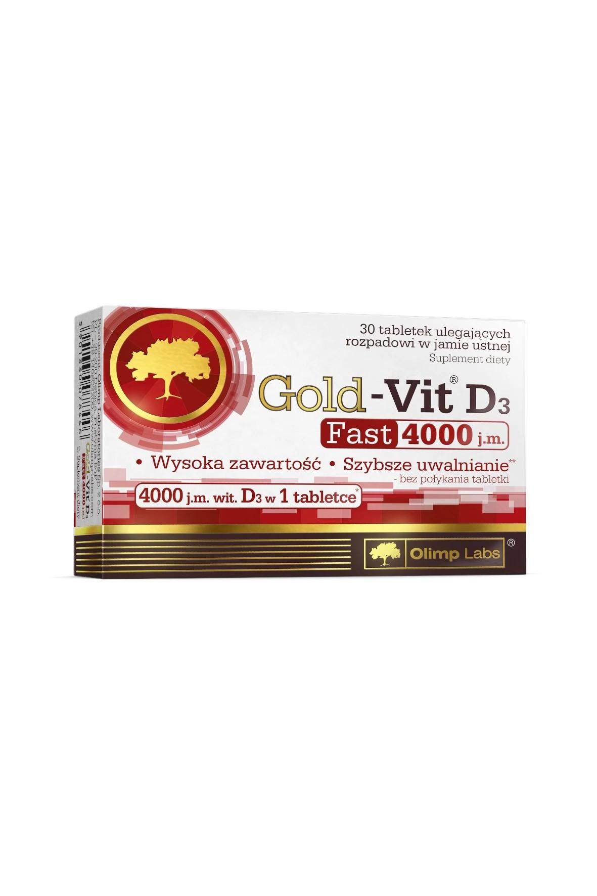 Gold-Vit D3 FAST 4000 j.m. - 30 tabletek