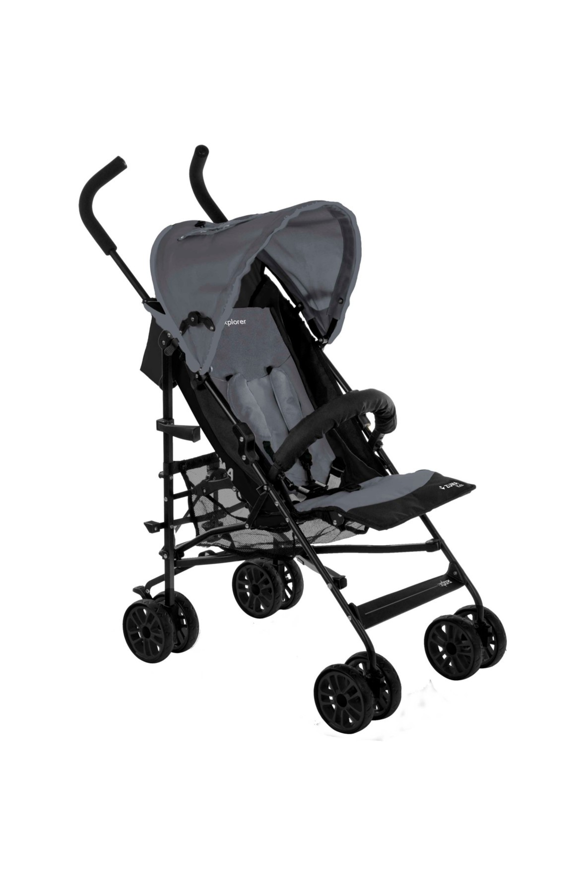 Wózek Spacerowy Explorer Zuma Kids Szaro-Czarny-parasolka