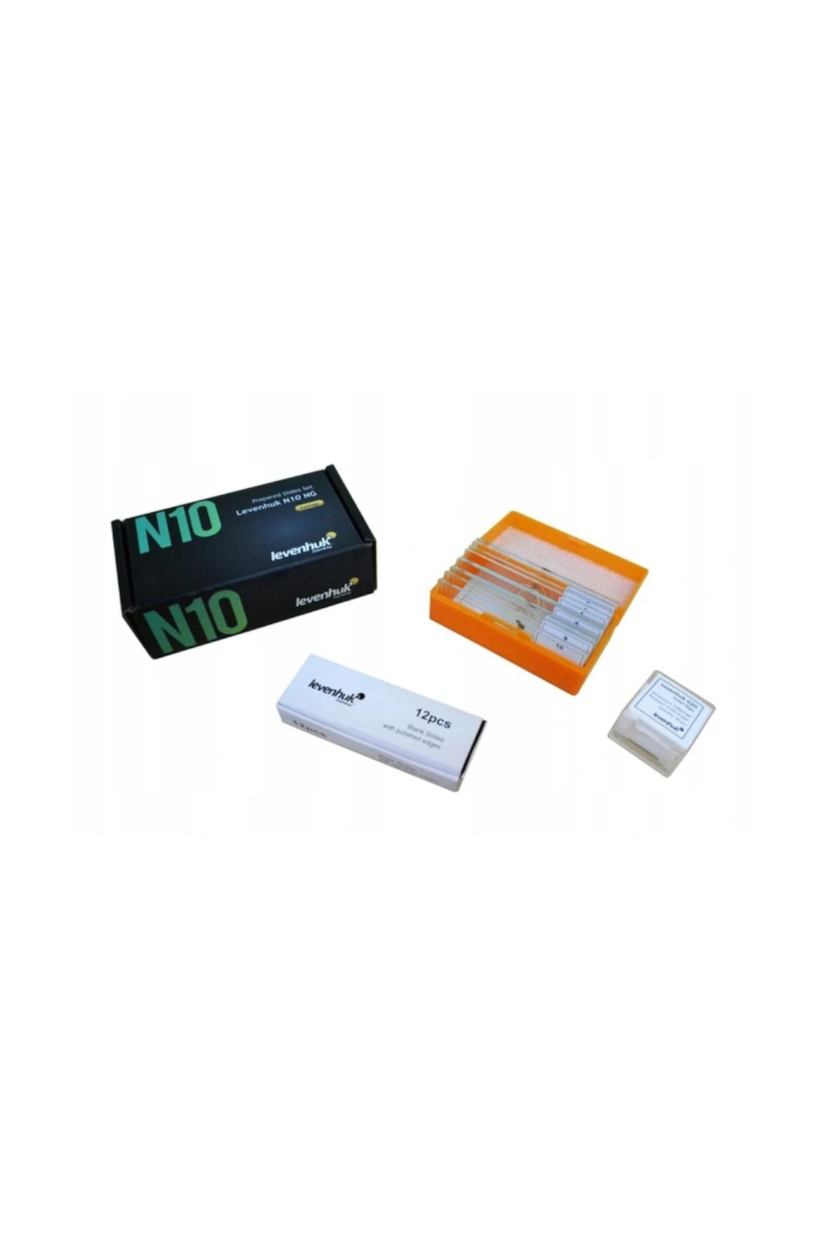Zestaw gotowych preparatów do mikroskopu N10 NG
