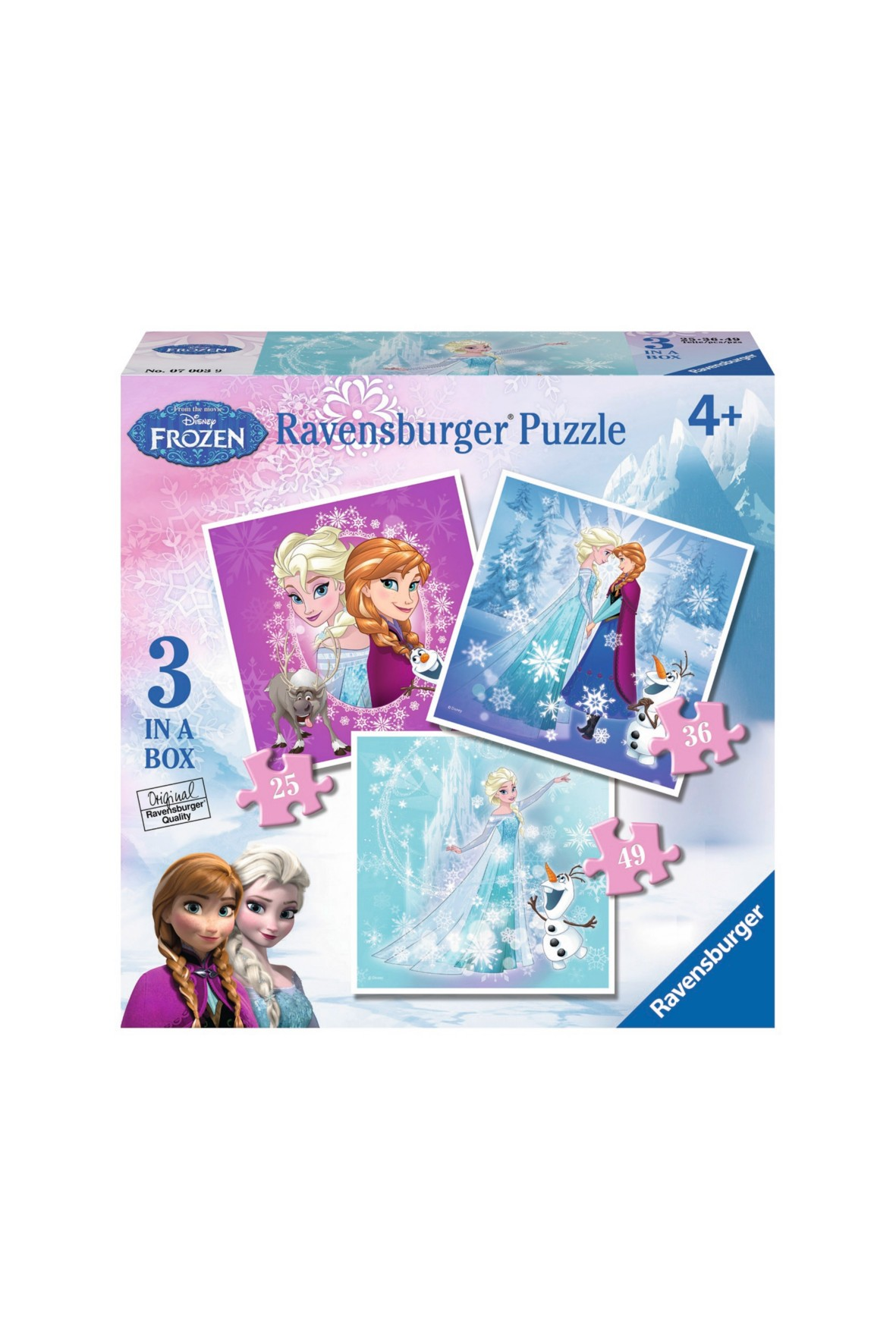 Puzzle Kraina Lodu - Zimowa magia