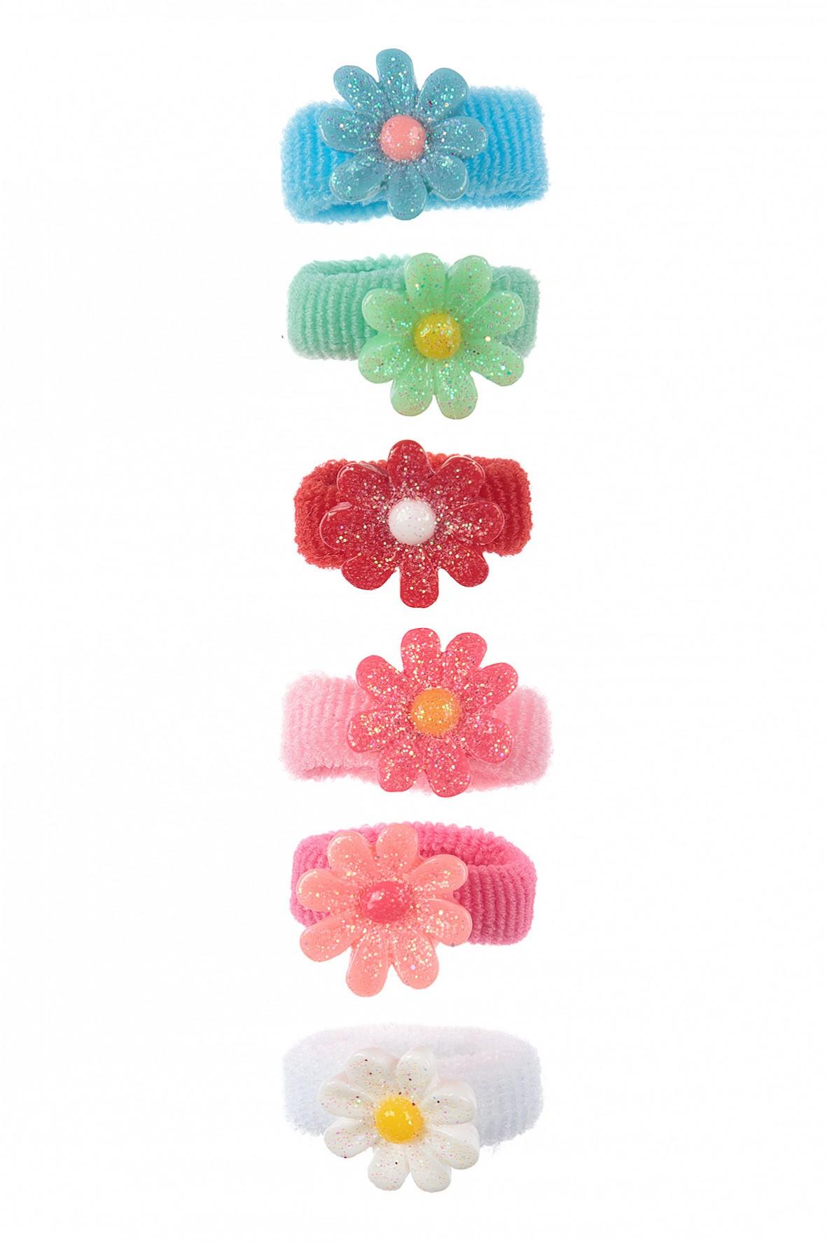 Gumki do włosów z kwiatkami 6szt
