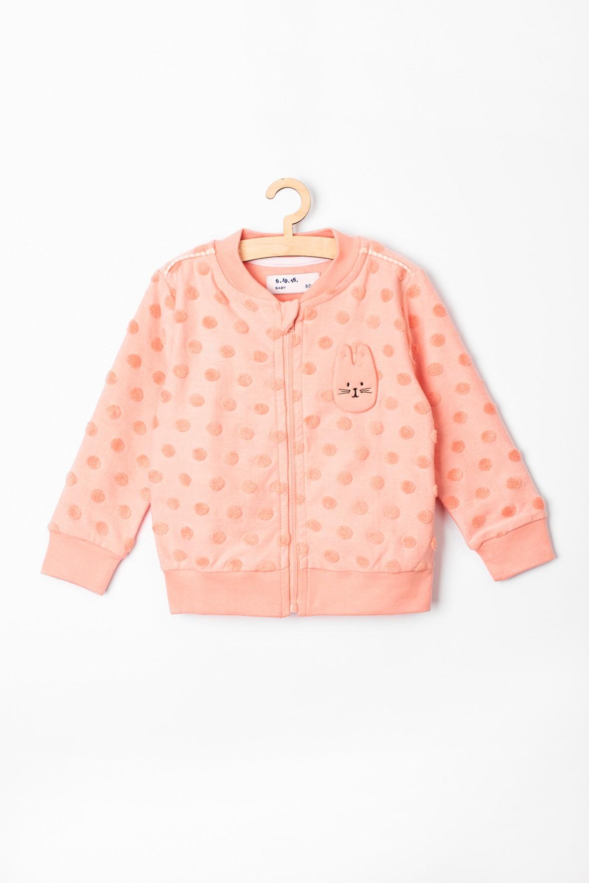 Bluza dziewczęca dresowa różowa rozpinana