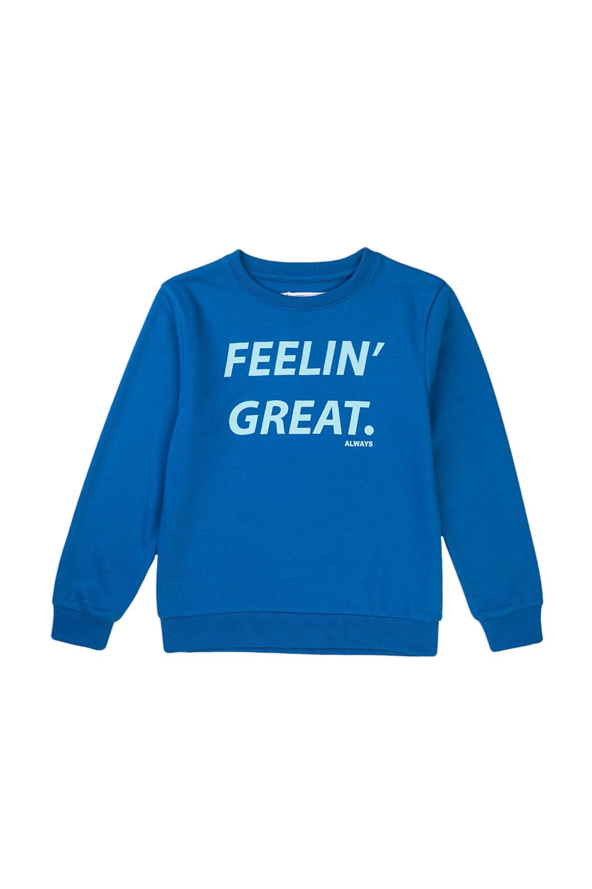 Bluza dresowa chłopięca w kolorze niebieskim