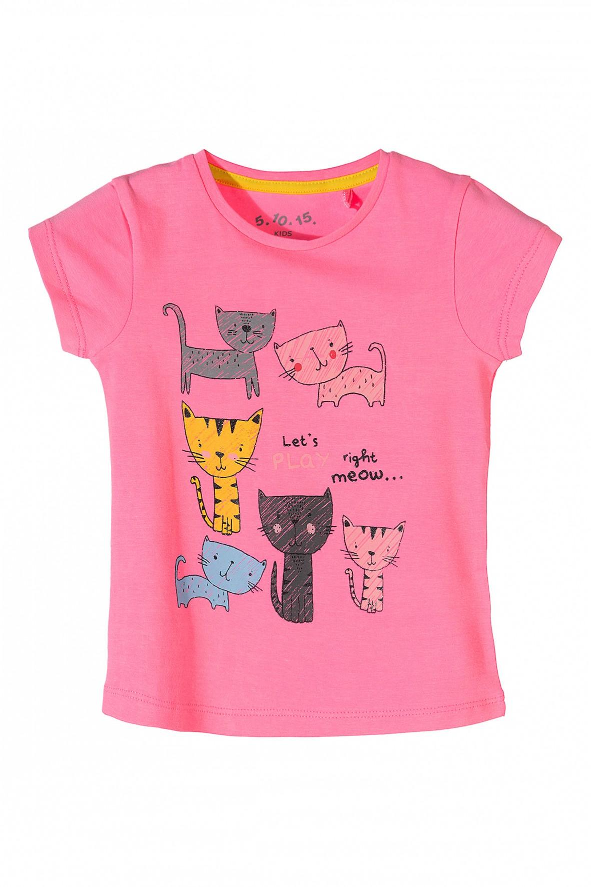 369c980b29 Różowa bluzka z krótkim rękawem dla dziewczynki w wieku ...