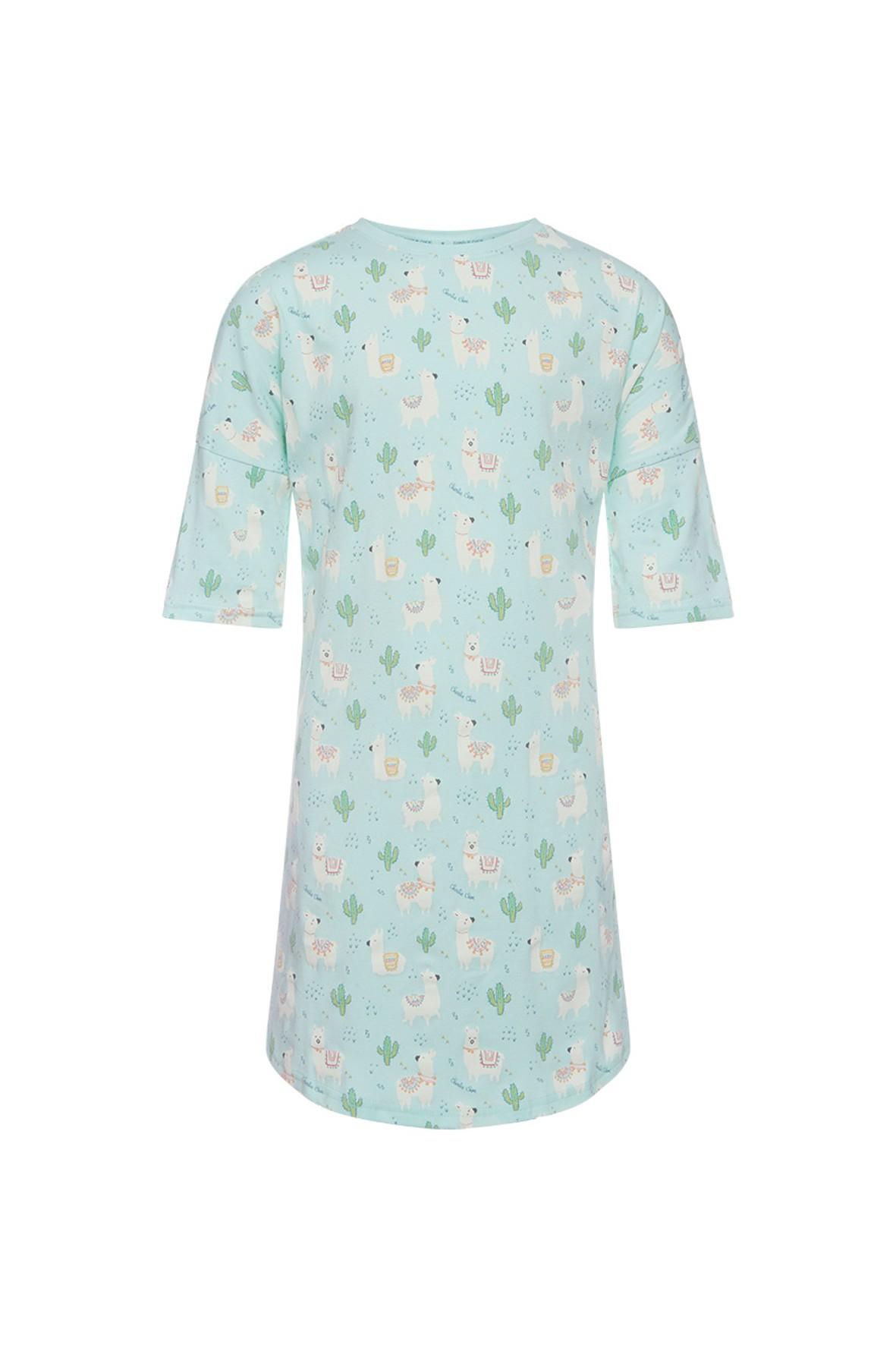 Pidżama dla niemowlaka- koszula nocna w lamy