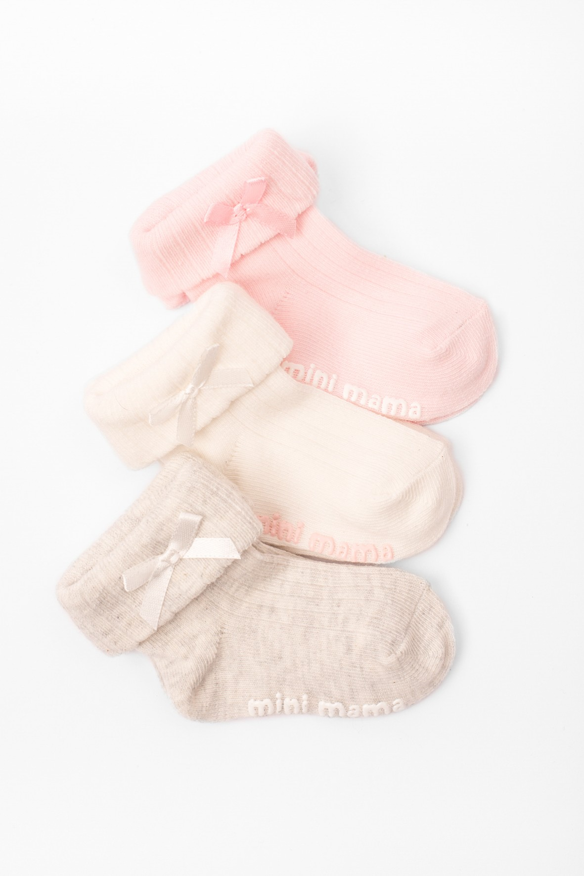 Skarpety niemowlęce Mini mama  3-pak