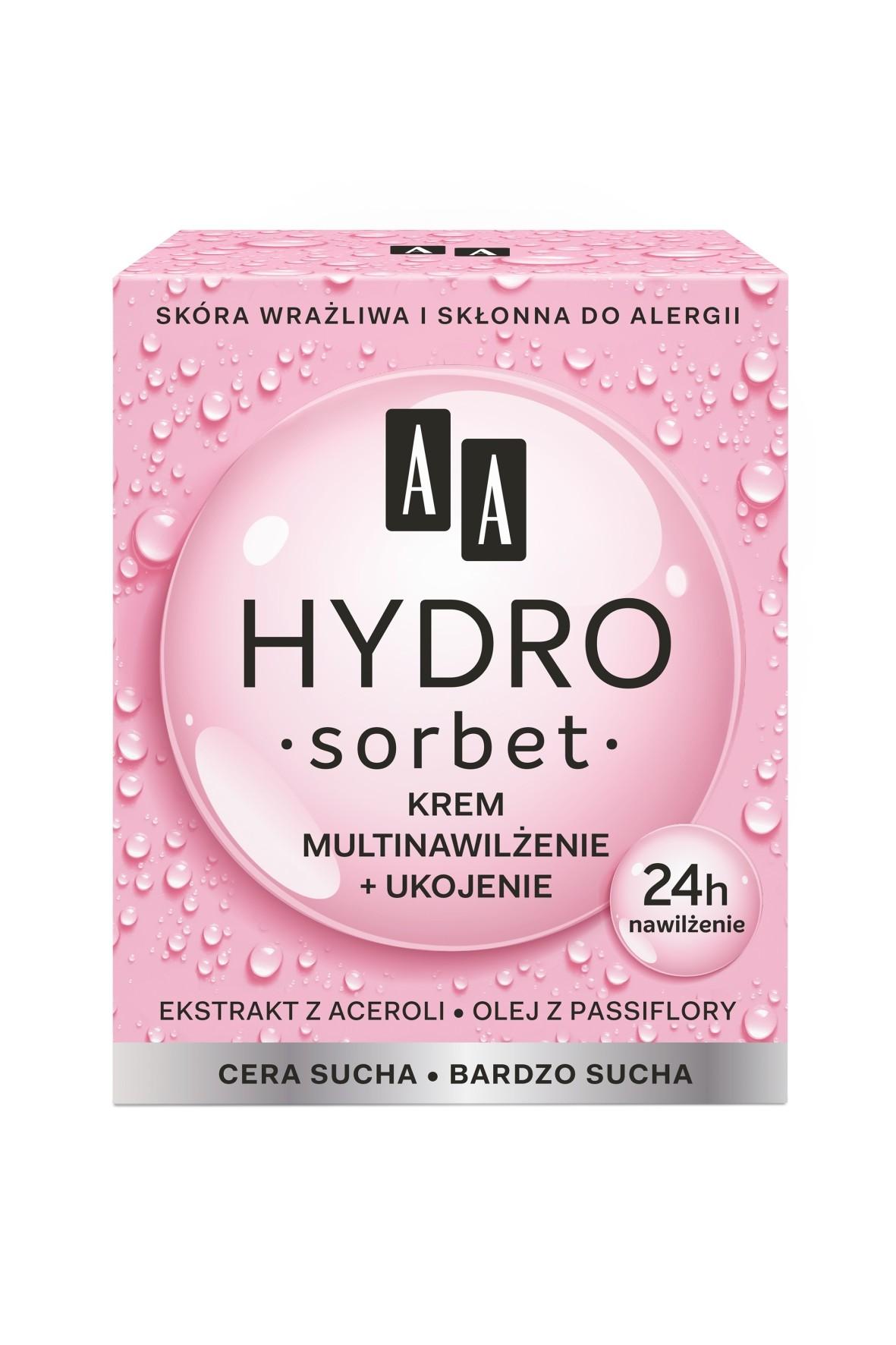 AA Hydro Sorbet krem multinawilżenie+odżywienie cera sucha/bardzo sucha 50 ml