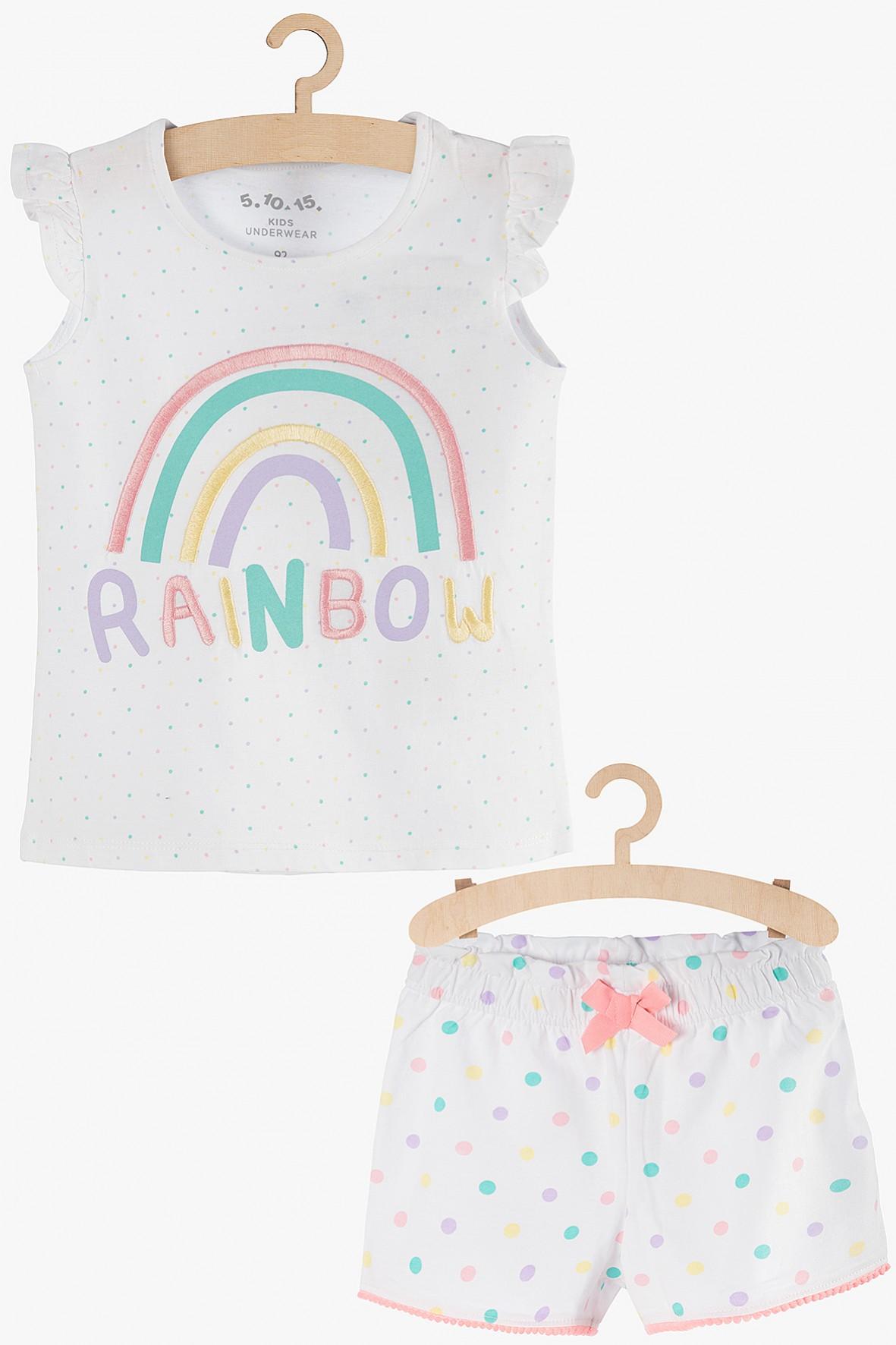 Pidżama dziewczęca biała Rainbow