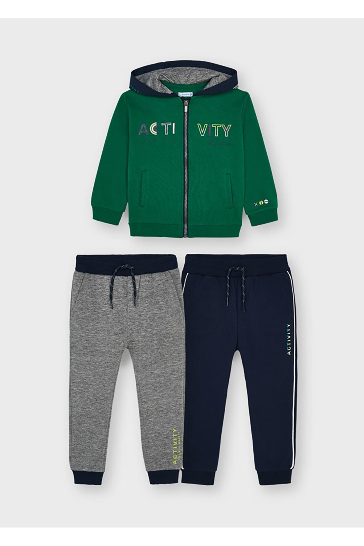 Komplet dresowy 3 częściowy - bluza z kapturem i dwie pary spodni dresowych