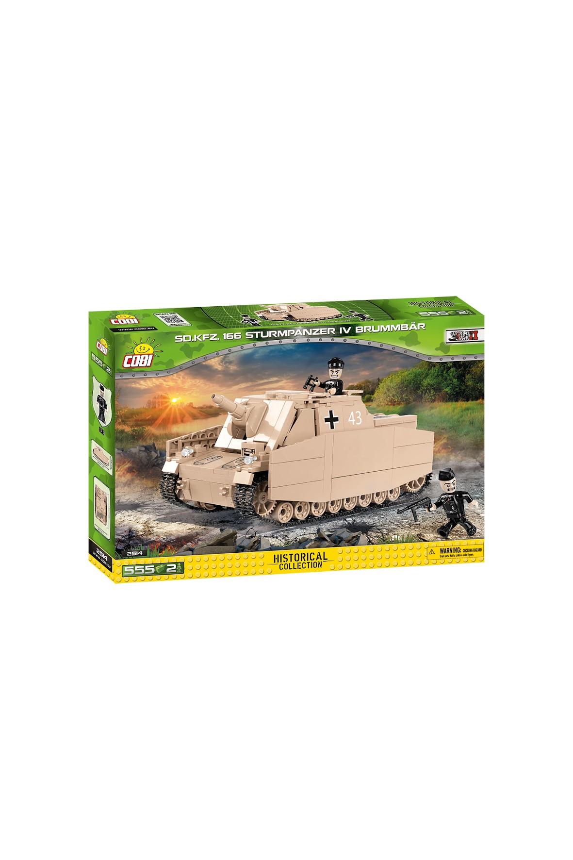 Klocki Cobi Small Army Sturmpanzer IV Brummbar 550el